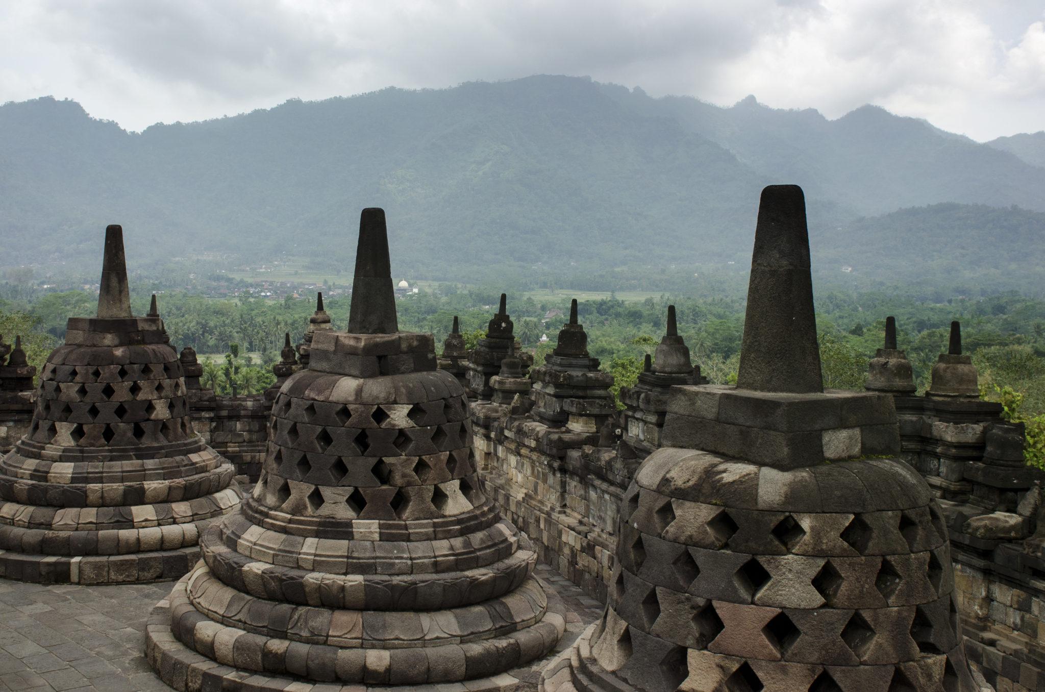 Borobodur auf der indonesischen Insel Java