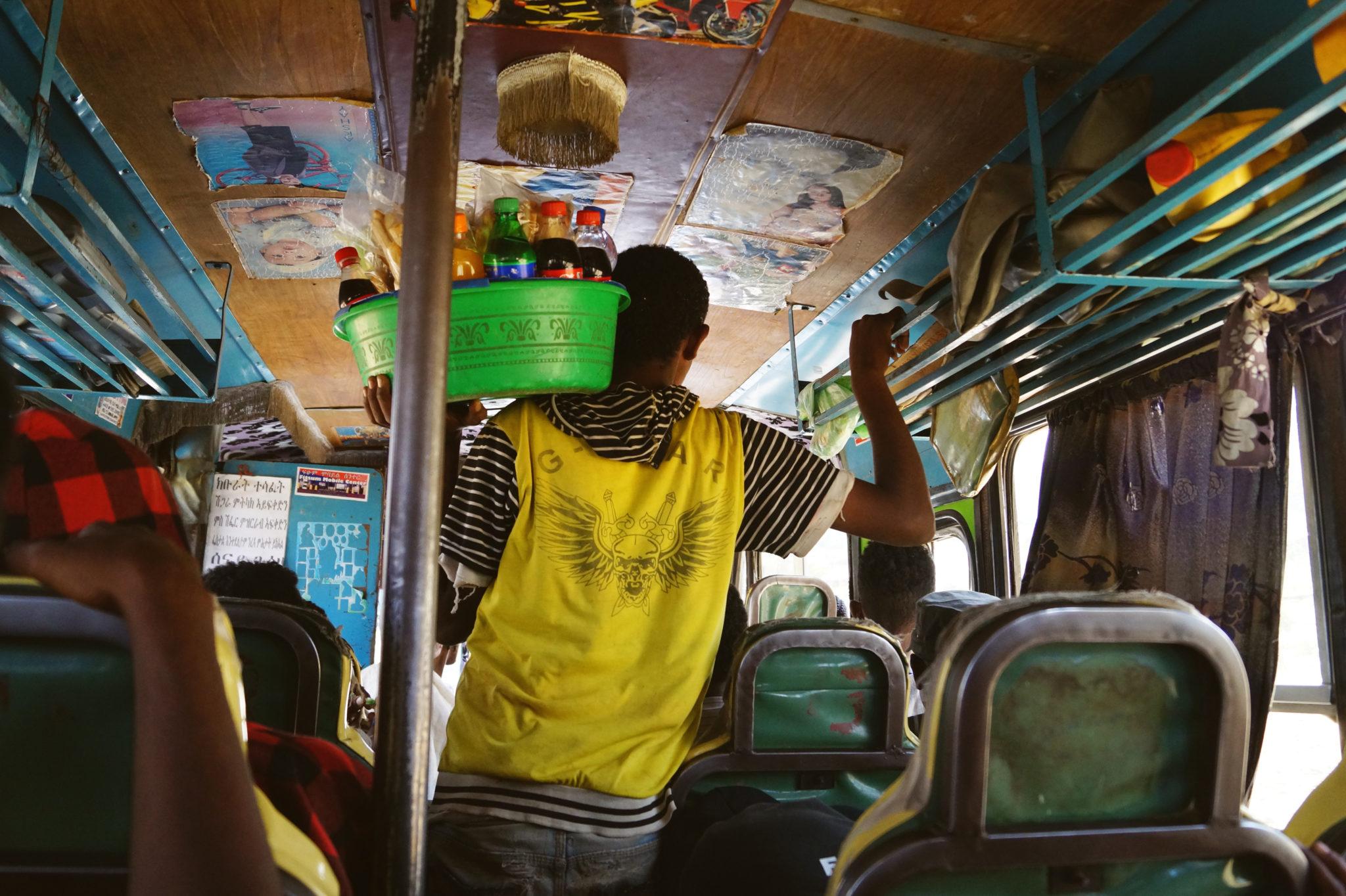 Busfahren auf Äthiopien Reisen