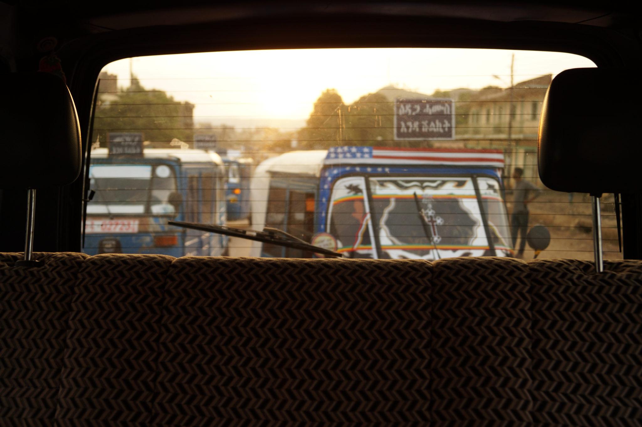 Rikscha Transport auf Äthiopien Reisen