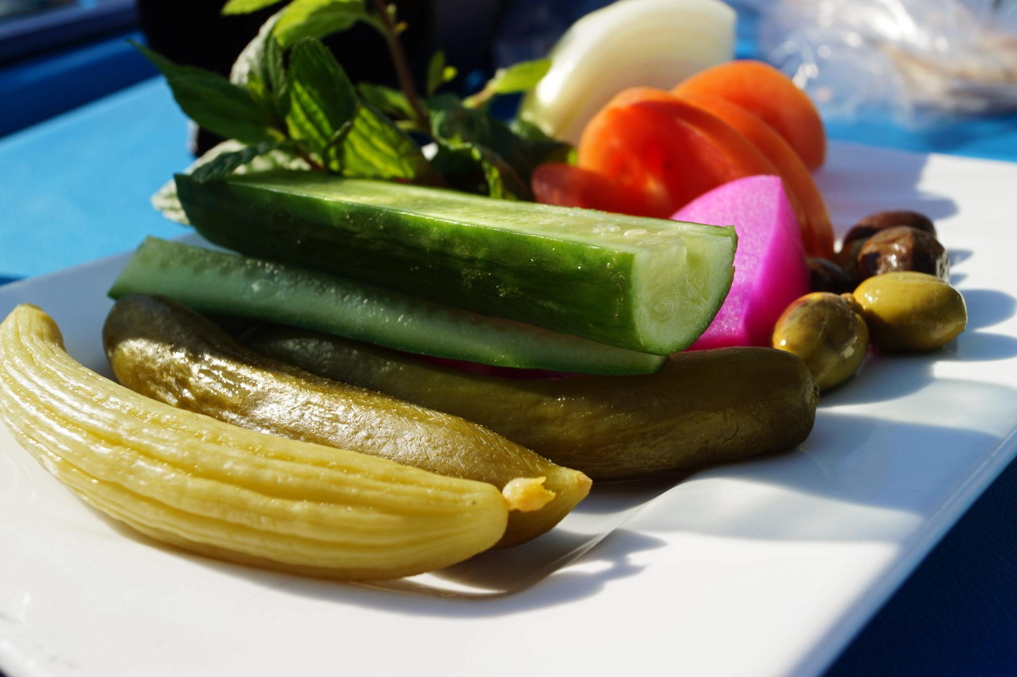 Frisches Gemüse gibt es im Libanon zu jeder Mahlzeit