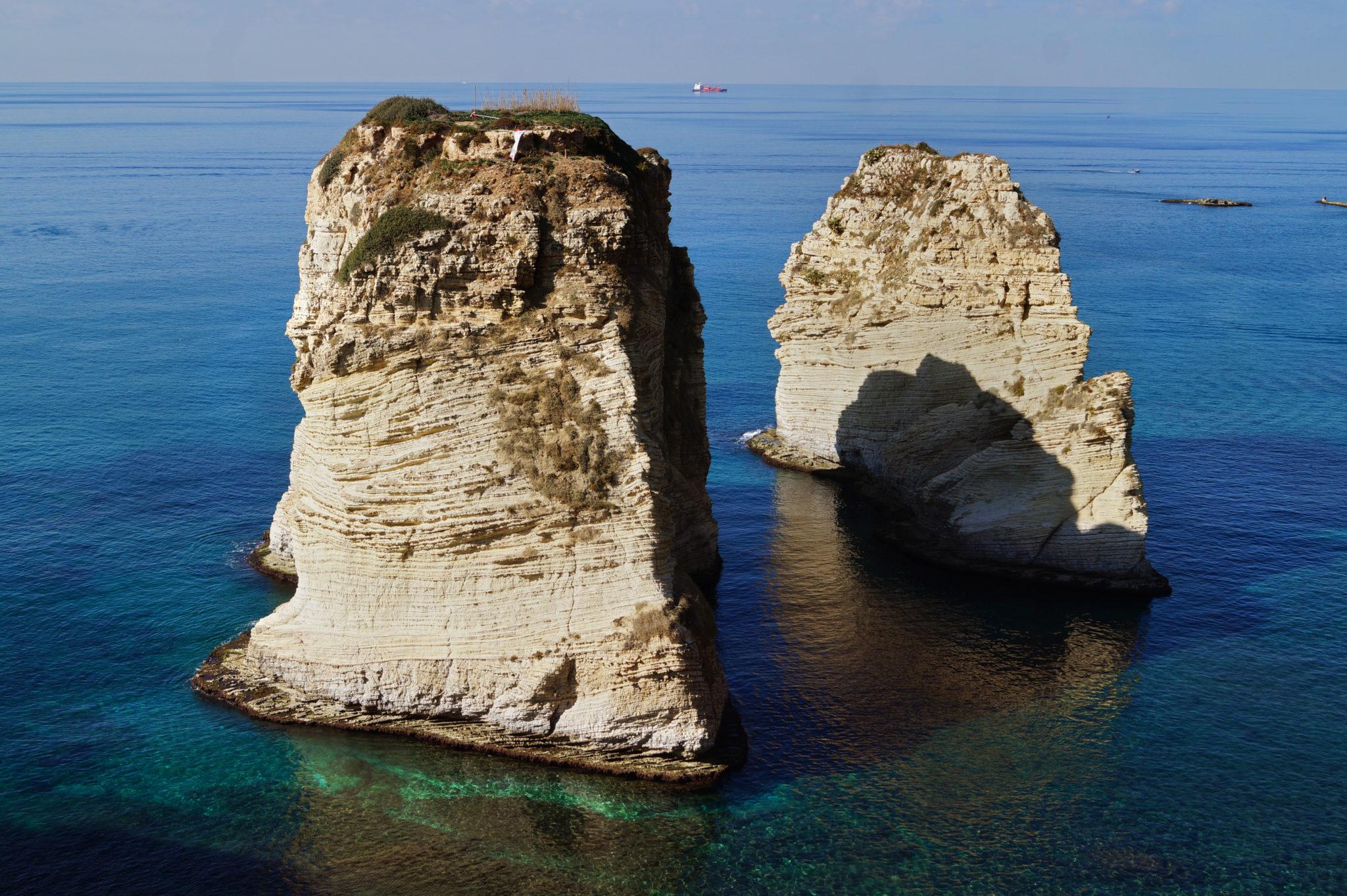 Pigeon Rocks an der Beirut Corniche