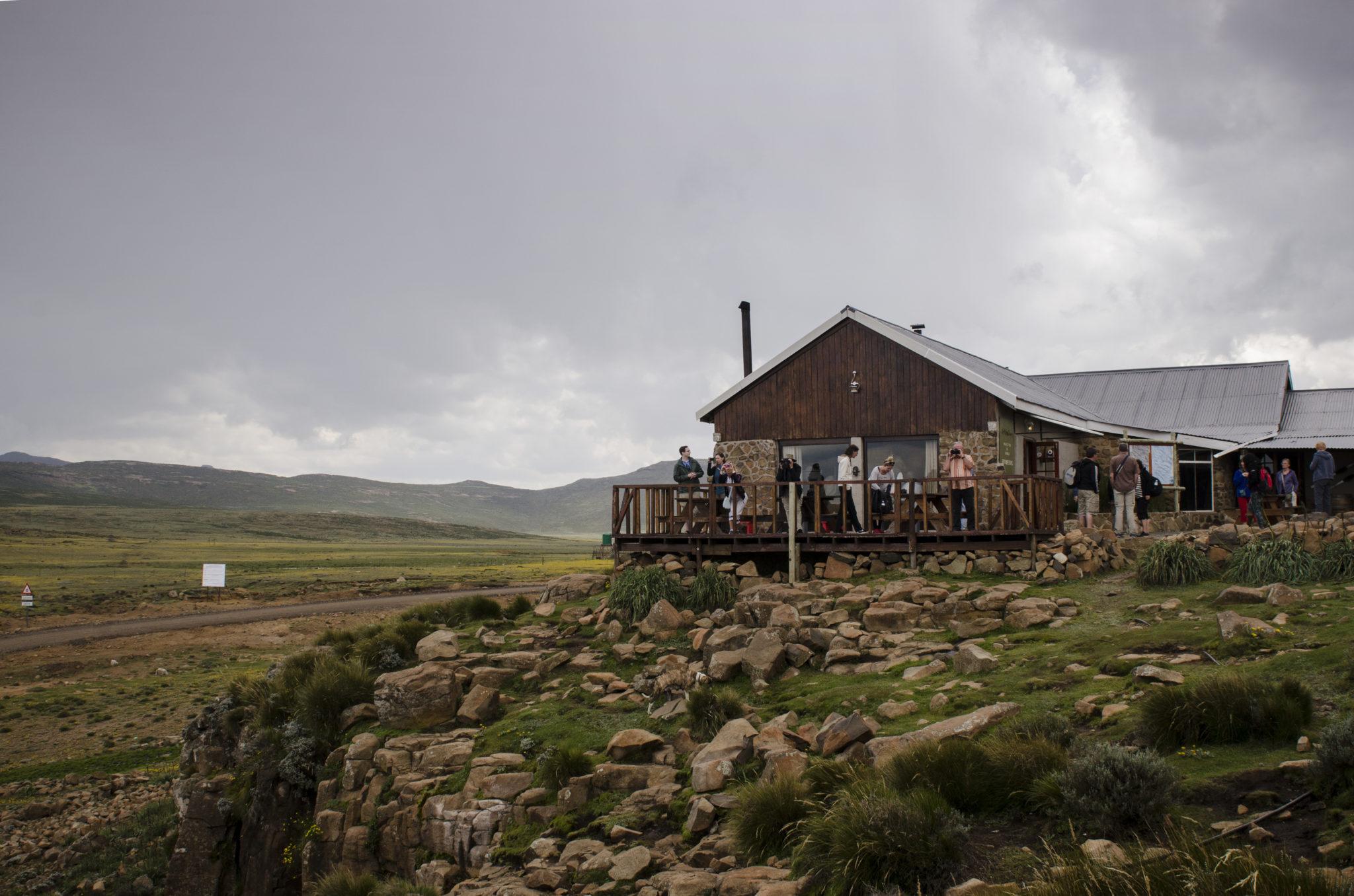 Der Pub auf dem Sani Pass Gipfel in Lesotho