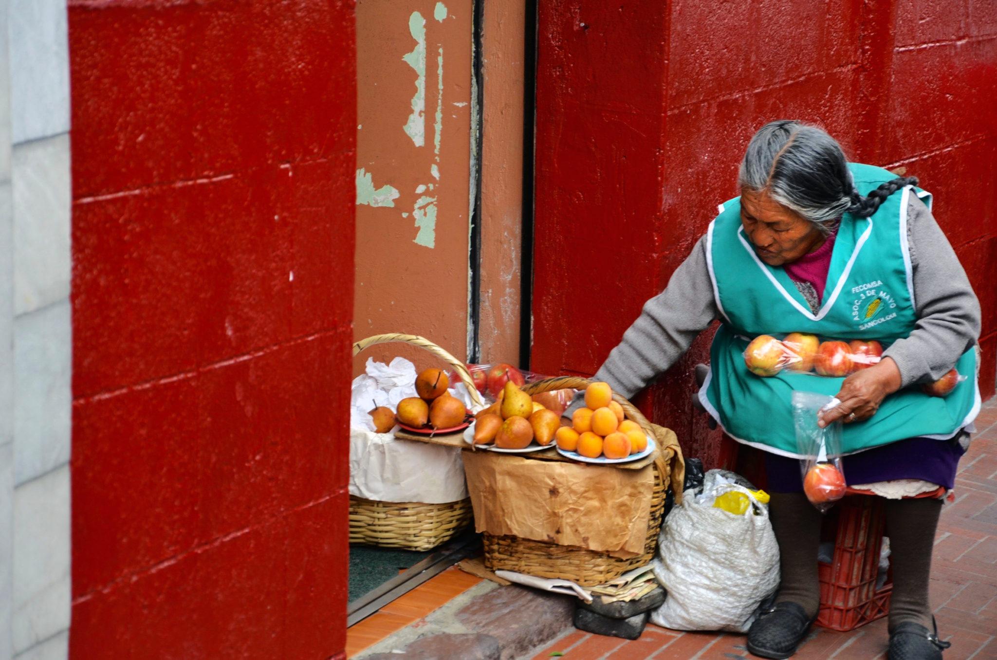 Verkäuferin in Quito
