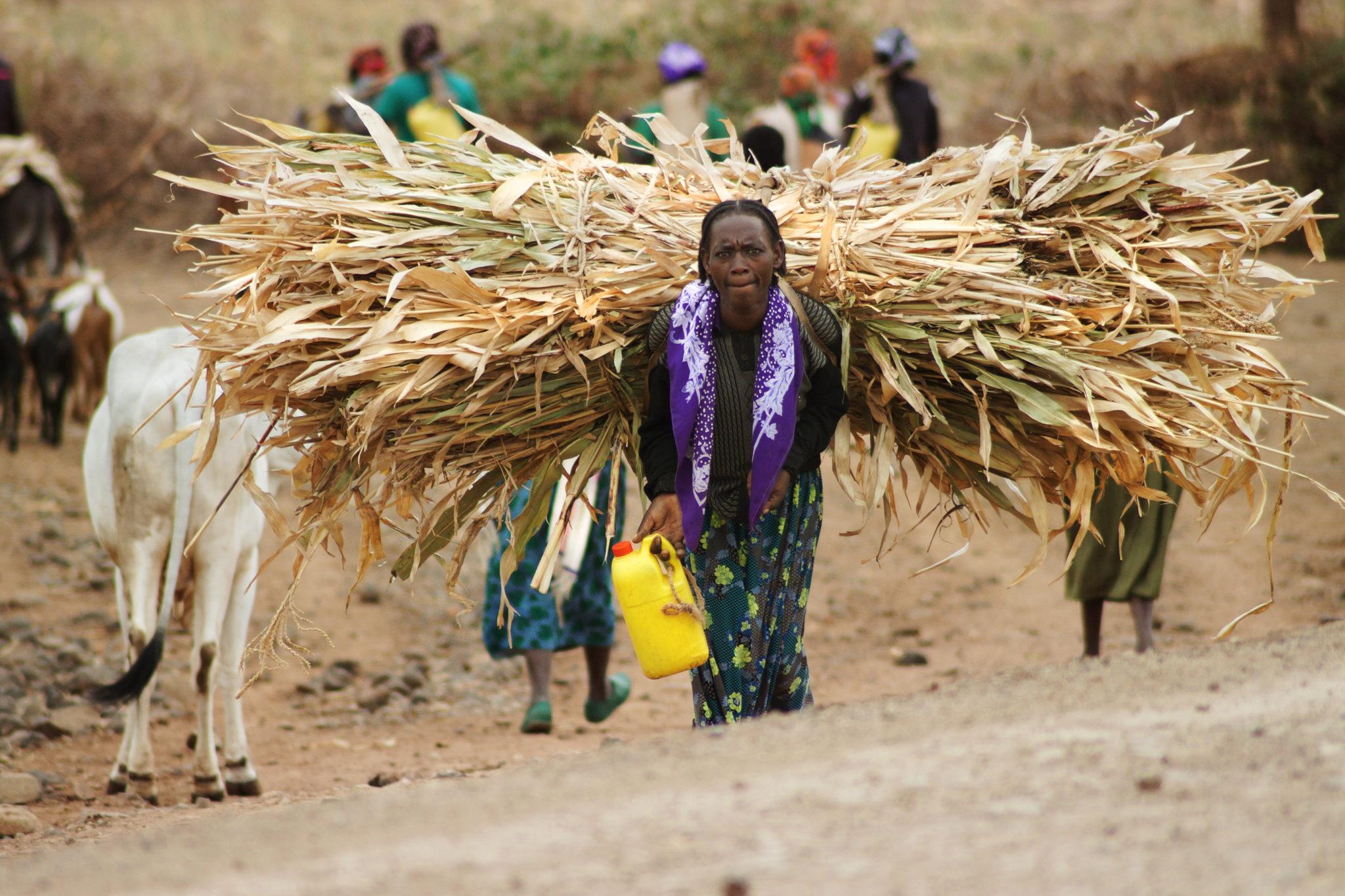 Eine Jinka Frau im Menschenzoo im Süden von Äthiopien
