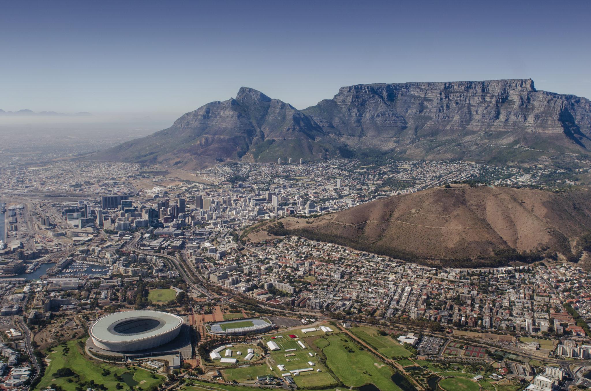 Aussicht bei einem Helikopter-Rundflug über Kapstadt