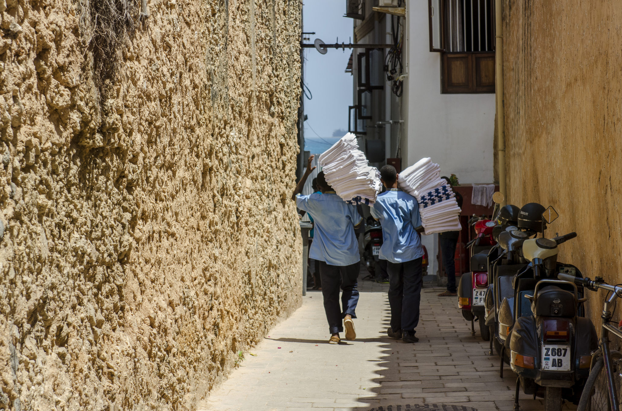 Händler auf Sansibar in Tansania