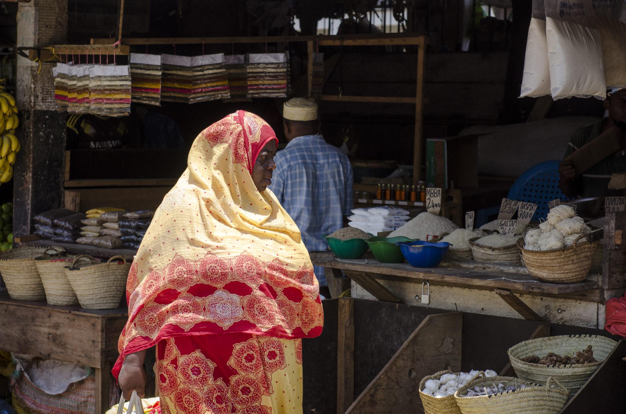Ein Markt auf Sansibar