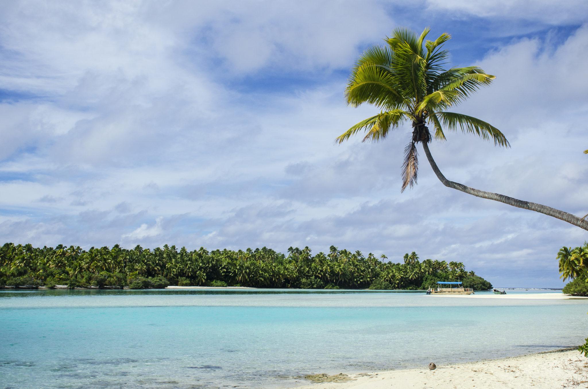 Aitutaki-Cook-Islands-Einzelne-Palme