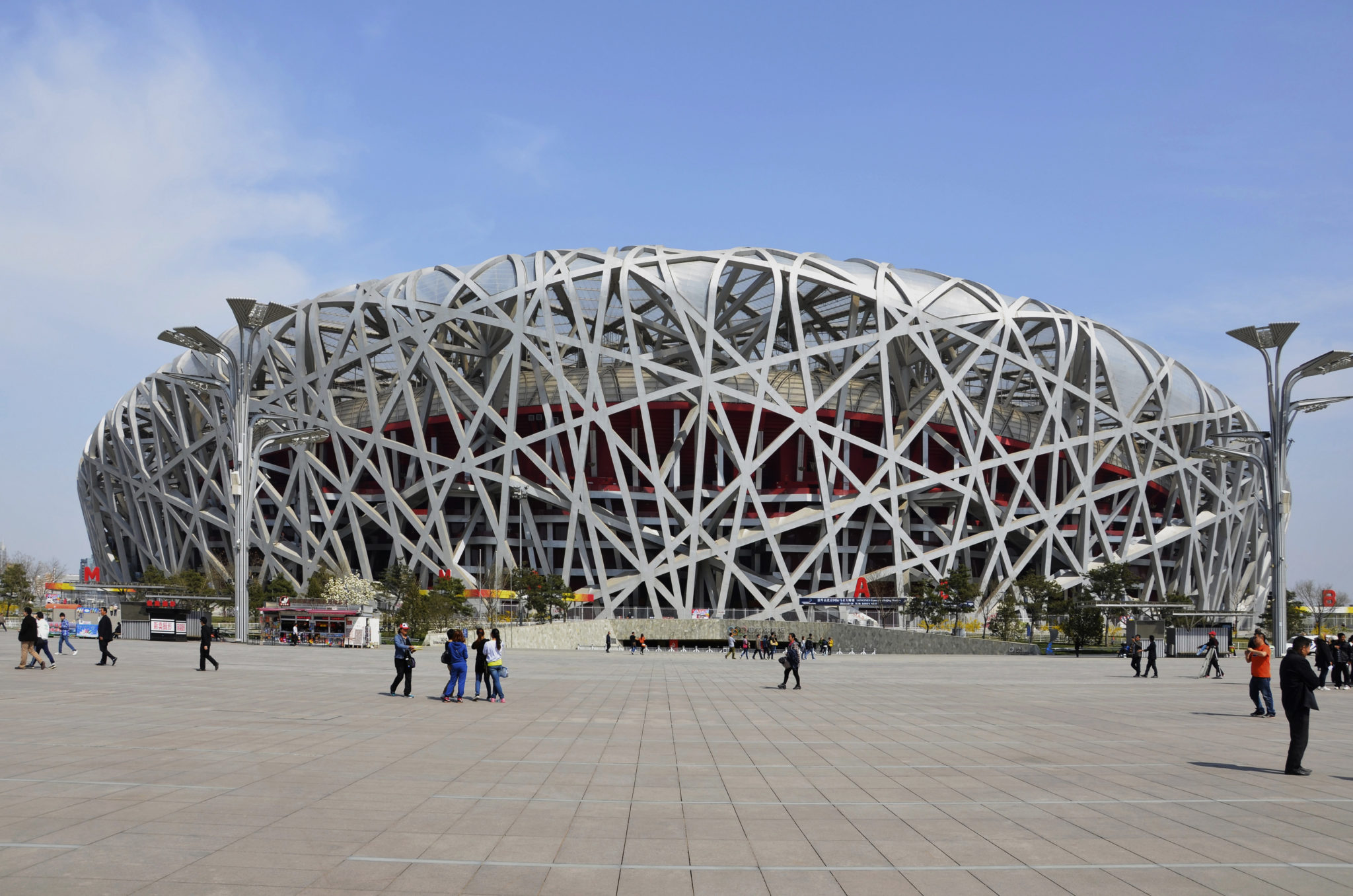 Das Olympiastadion in Peking wird auch Vogelnest genannt