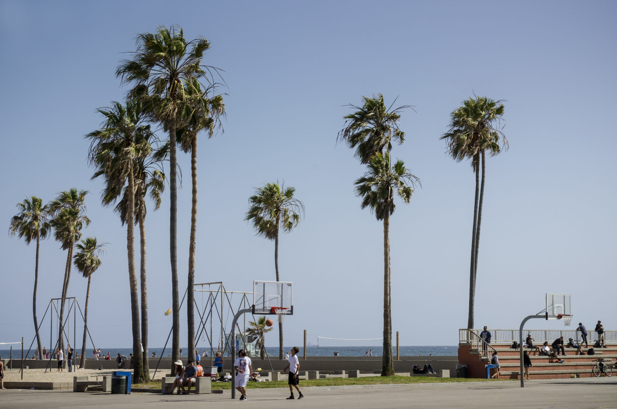 Venice-Beach-Basketballfeld