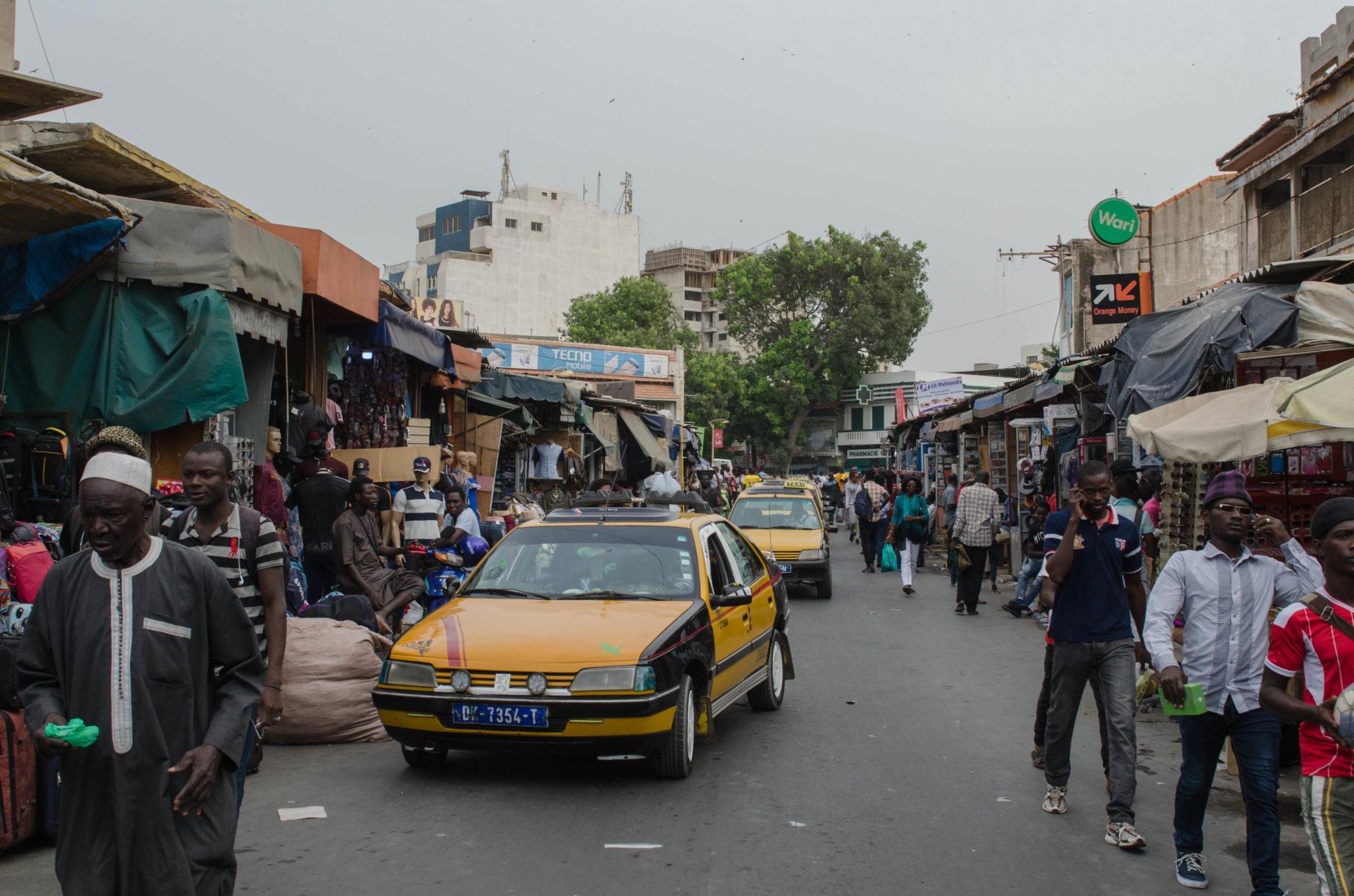 Taxis bekommt man in Dakar einfach