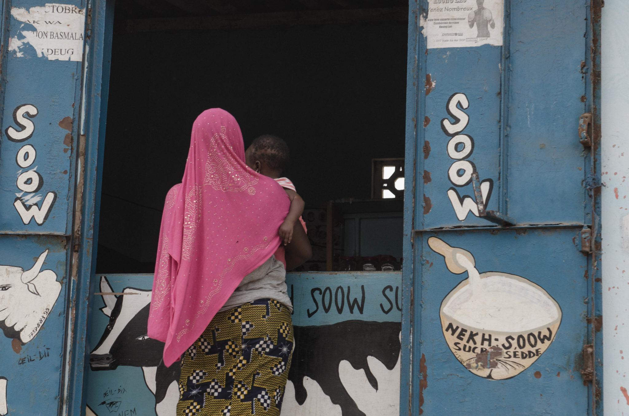 Ein Kiosk im Senegal