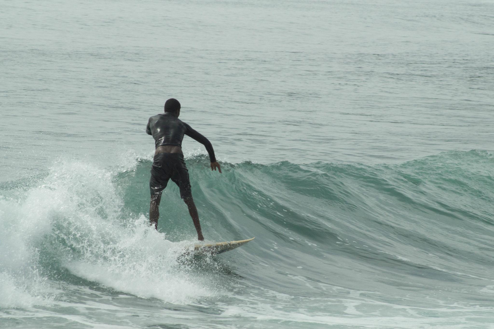 Surfen im Senegal in Afrika
