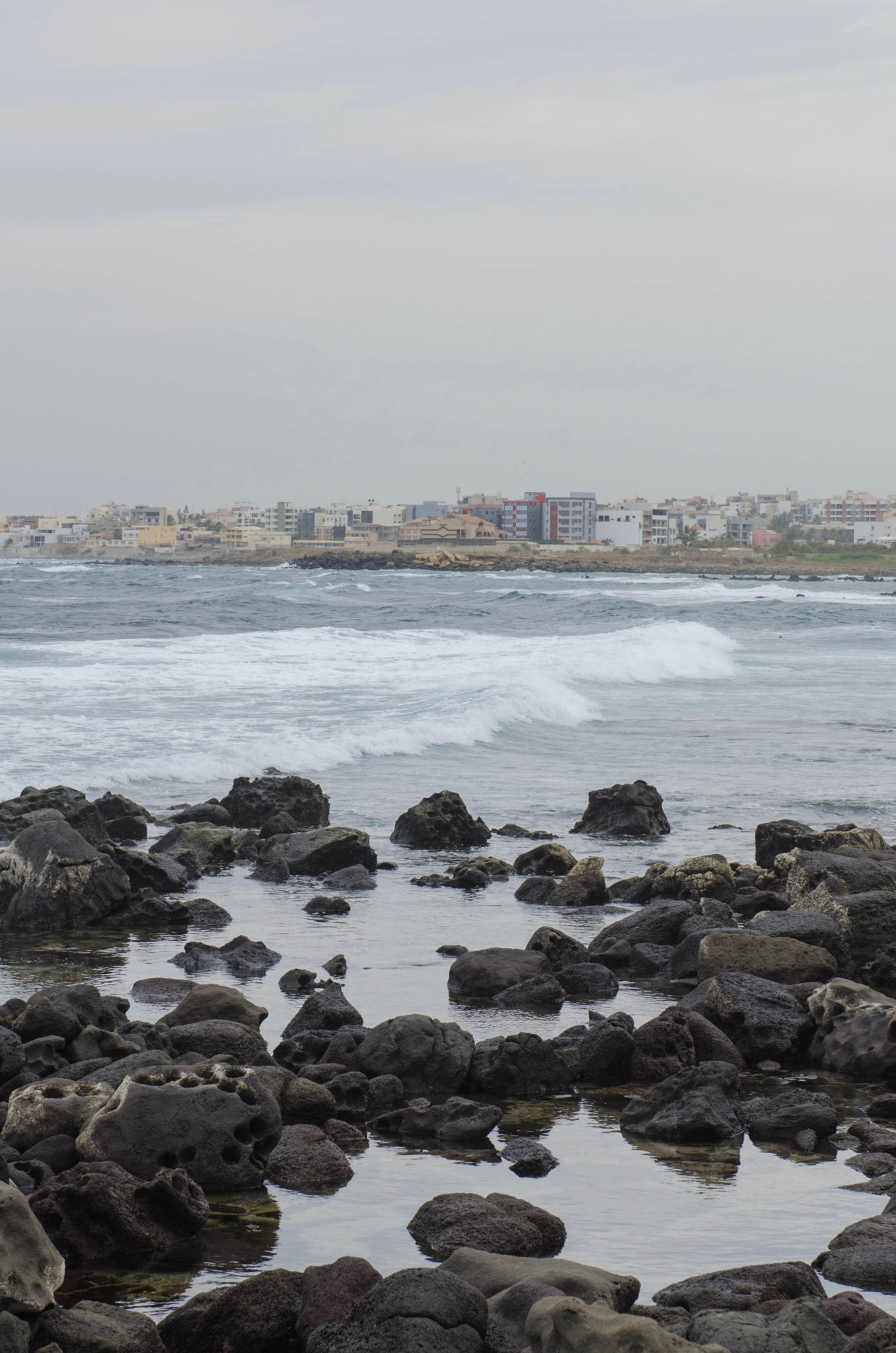 Ausblick von der Surferinsel Ile Ngor