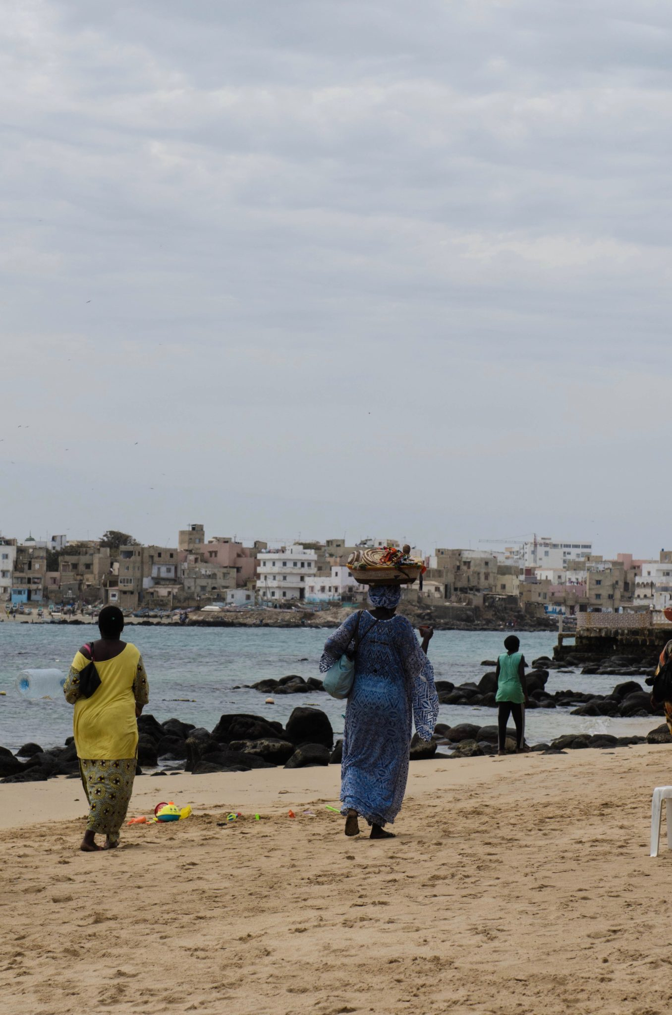 Vom Strand von Ile Ngor kann man nach Dakar schauen