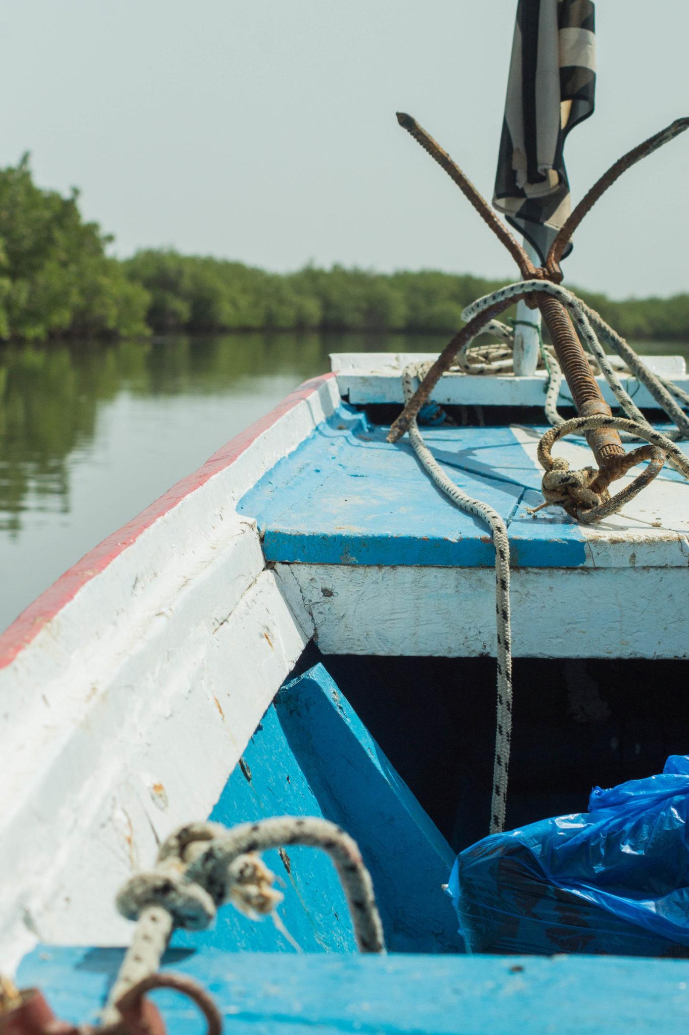 Eine Piroge im Sine Saloum Senegal