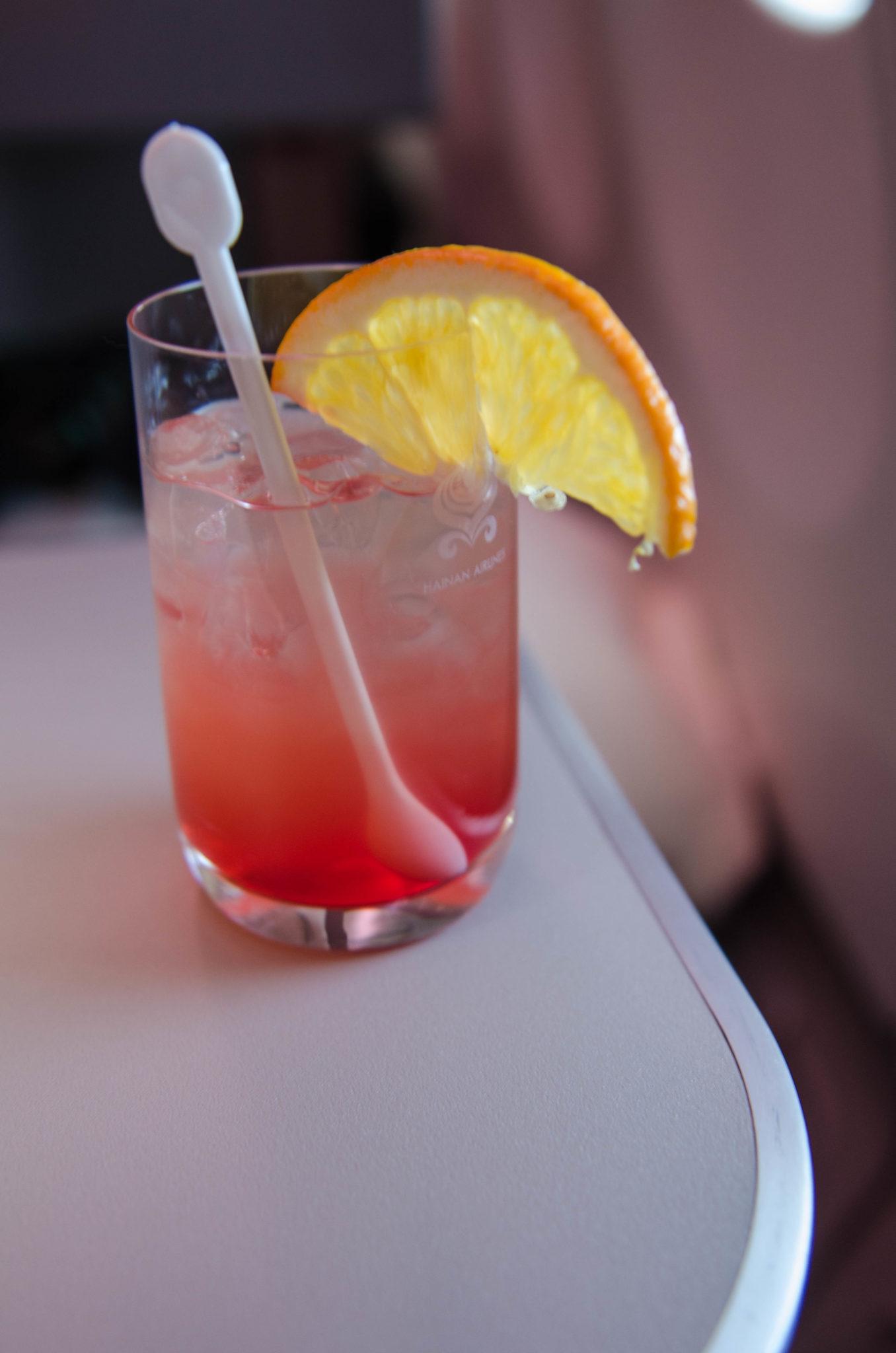 Eine Limonade, die es so nur in der Hainan Business Class gibt: lecker und erfrischend