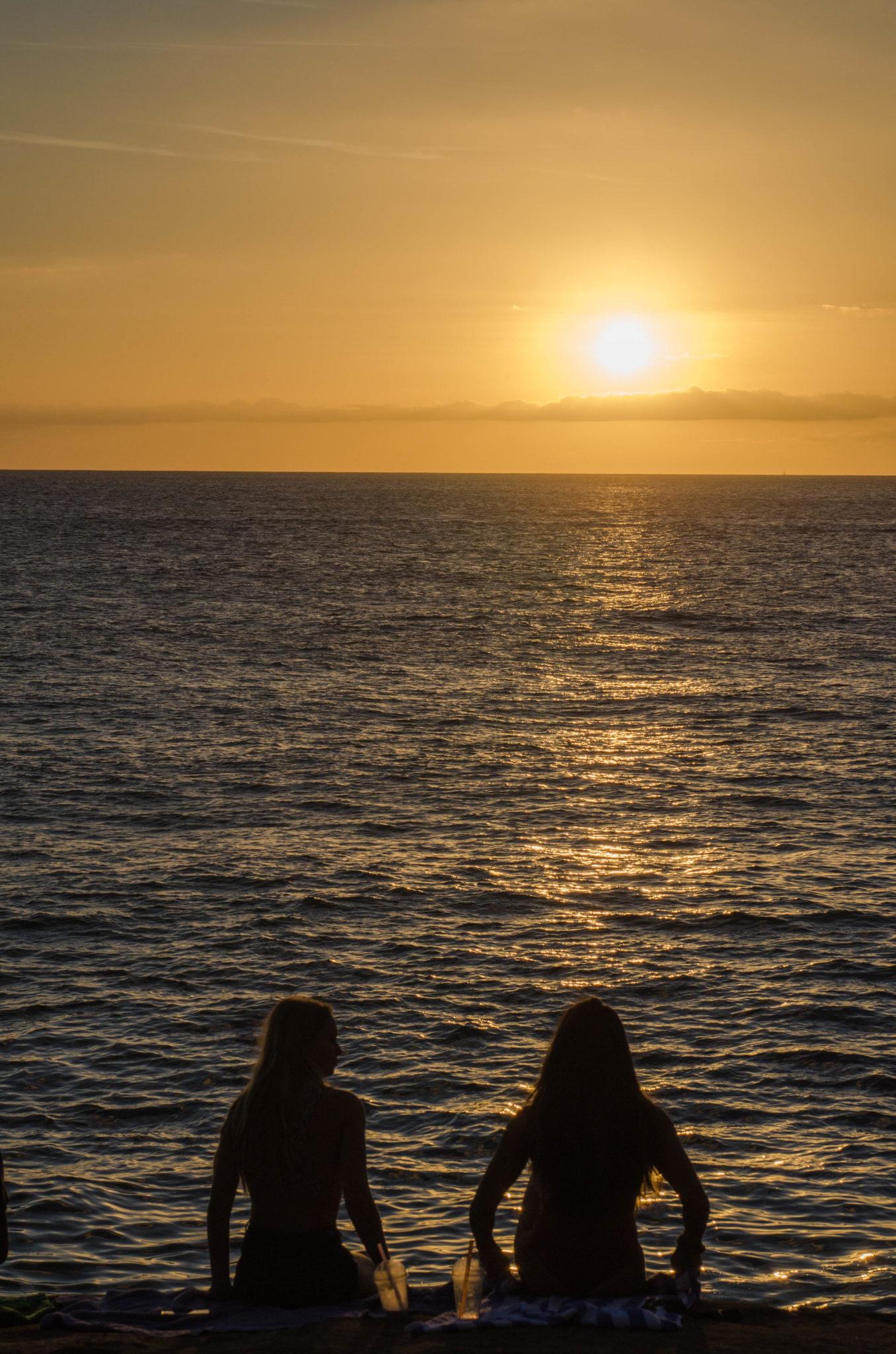 Oahu bietet unter den Hawaii Inseln die schönsten Sonnenuntergänge