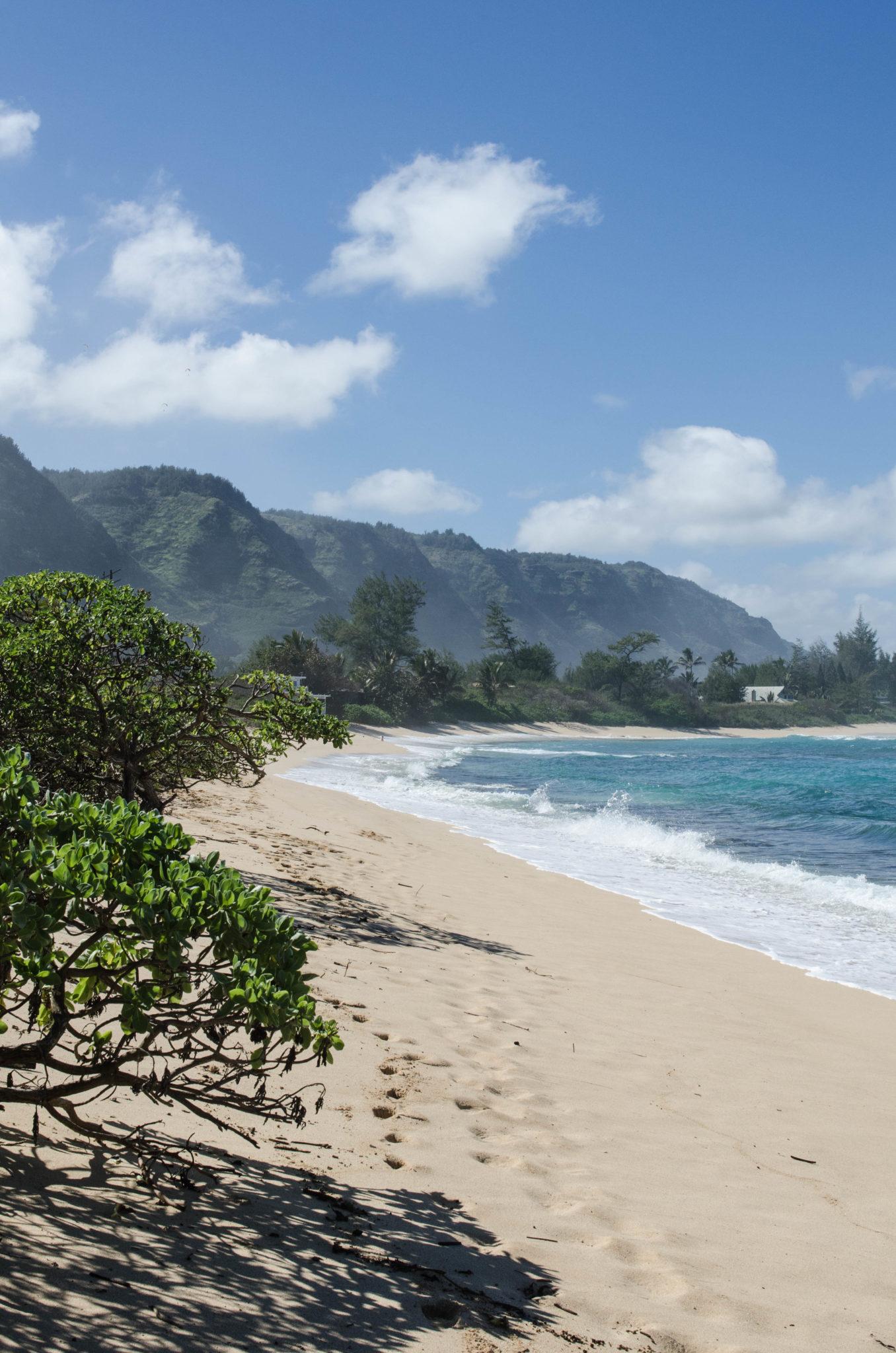 Sehenswürdigkeiten Hawaii: Auch ruhige Strände gibt es an der North Shore von Oahu