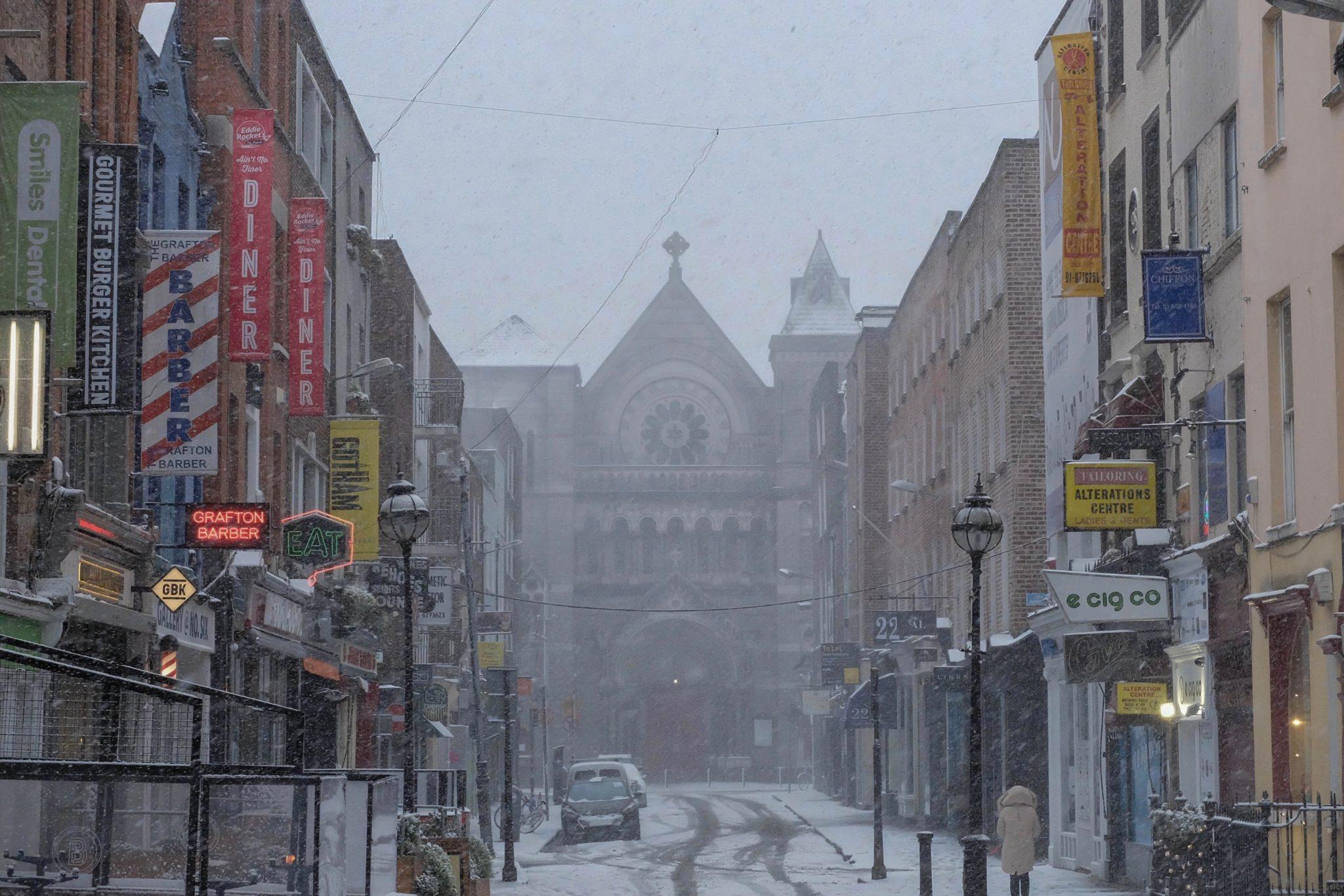 St. Patrick's Day in Dublin: Auch bei Schnee wird in Dublin gefeiert