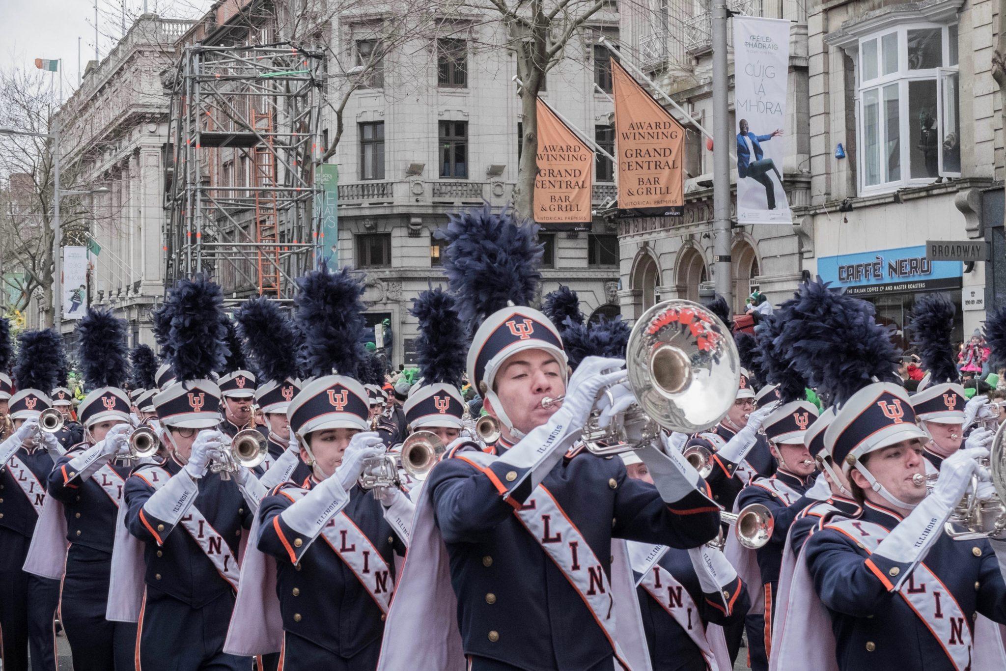 St. Patrick's Day in Dublin: Auch Orchester sind bei der Parade dabei