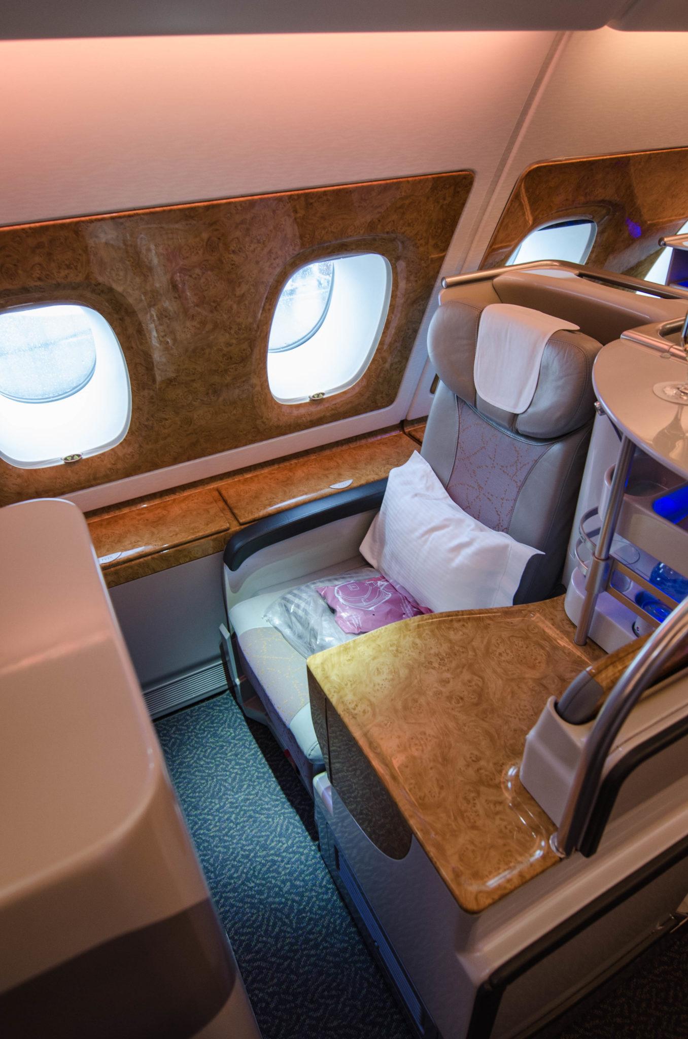 Emirates Business Class A380: Wo der beste Sitzplatz ist? Das liegt im Auge des Betrachters.