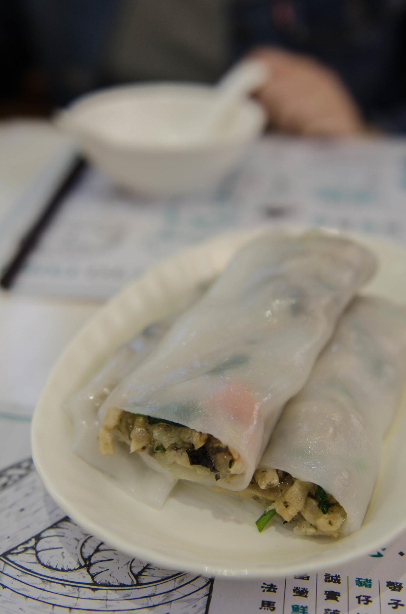 Hongkong Reisetipps: Reisrollen sehen zwar nicht schön aus, schmecken aber super lecker.