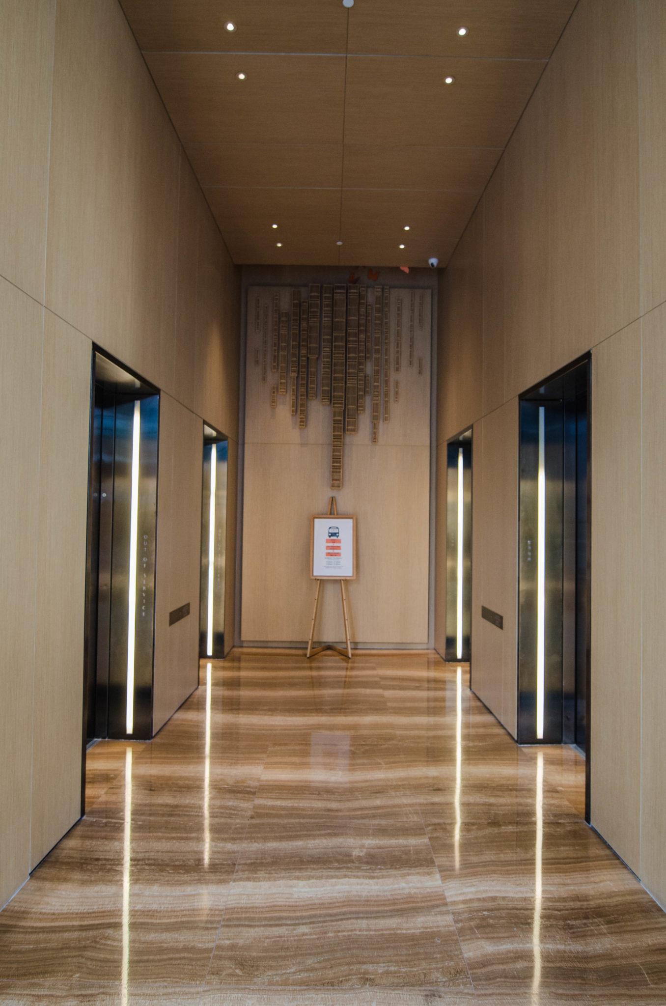 Die Aufzüge im Hotel