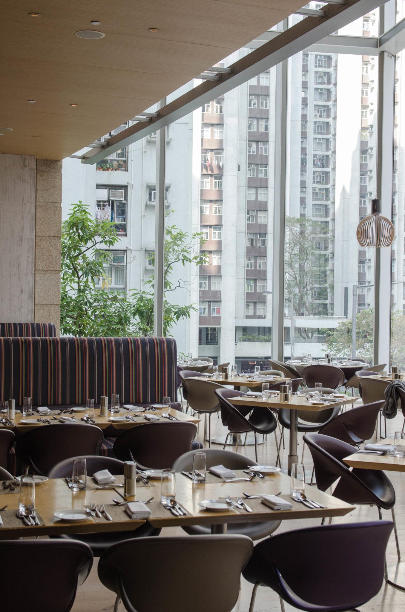 Der Frühstücksraum im Hotel EAST Hong Kong