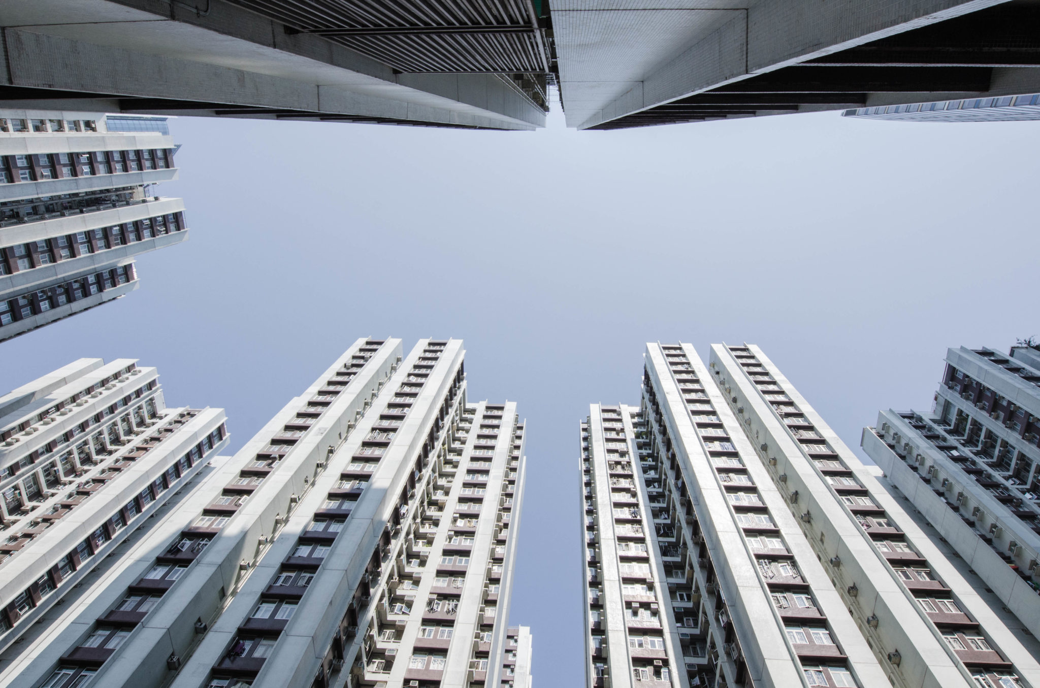 Hochhäuser in Taikoo Shing in Hongkong