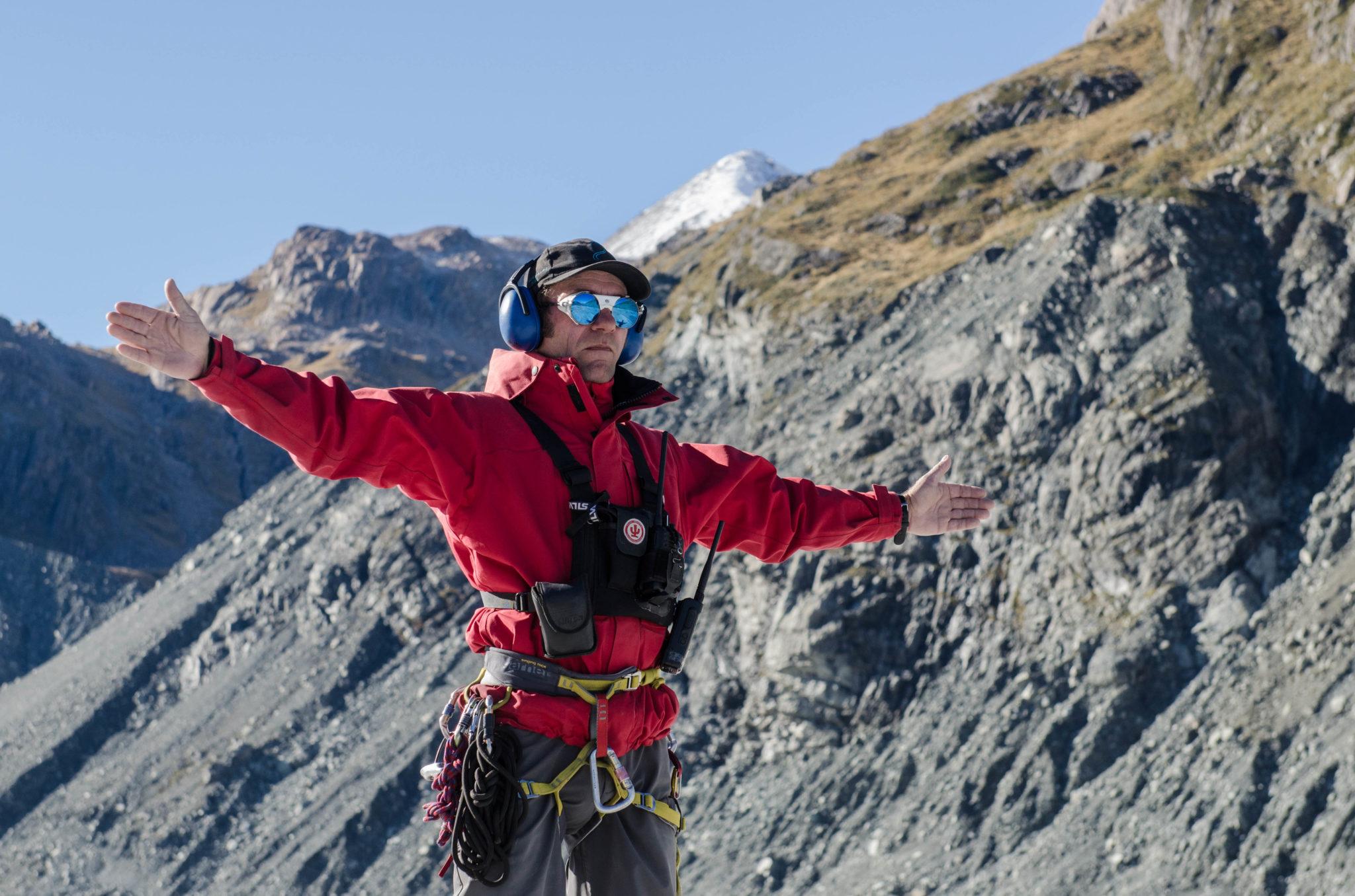 Mount Cook in Neuseeland bei einer Gletscherwanderung: Ant ist ein Profi auf dem Eis