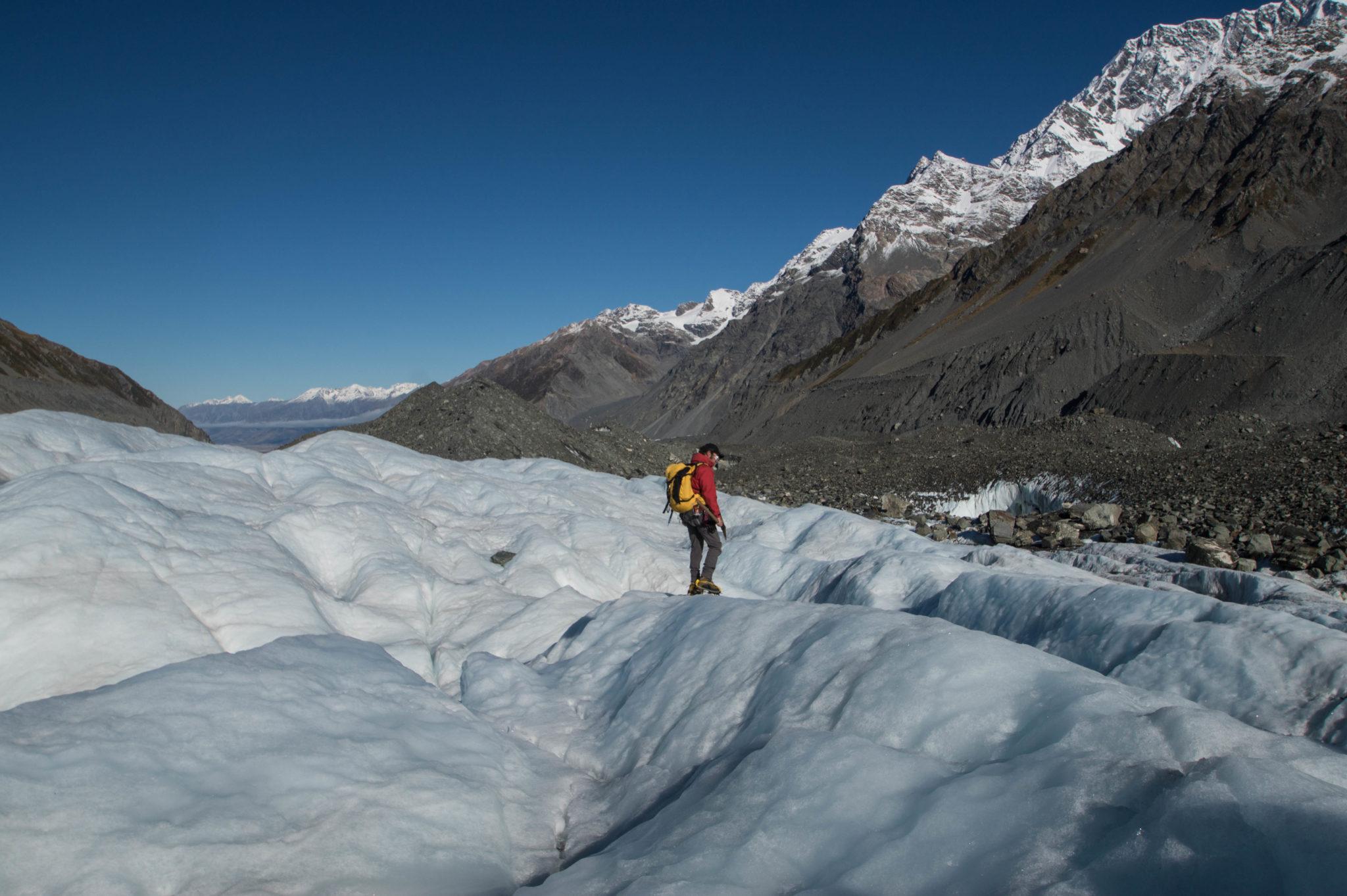 Gletscherwanderung auf dem Mount Cook in Neuseeland