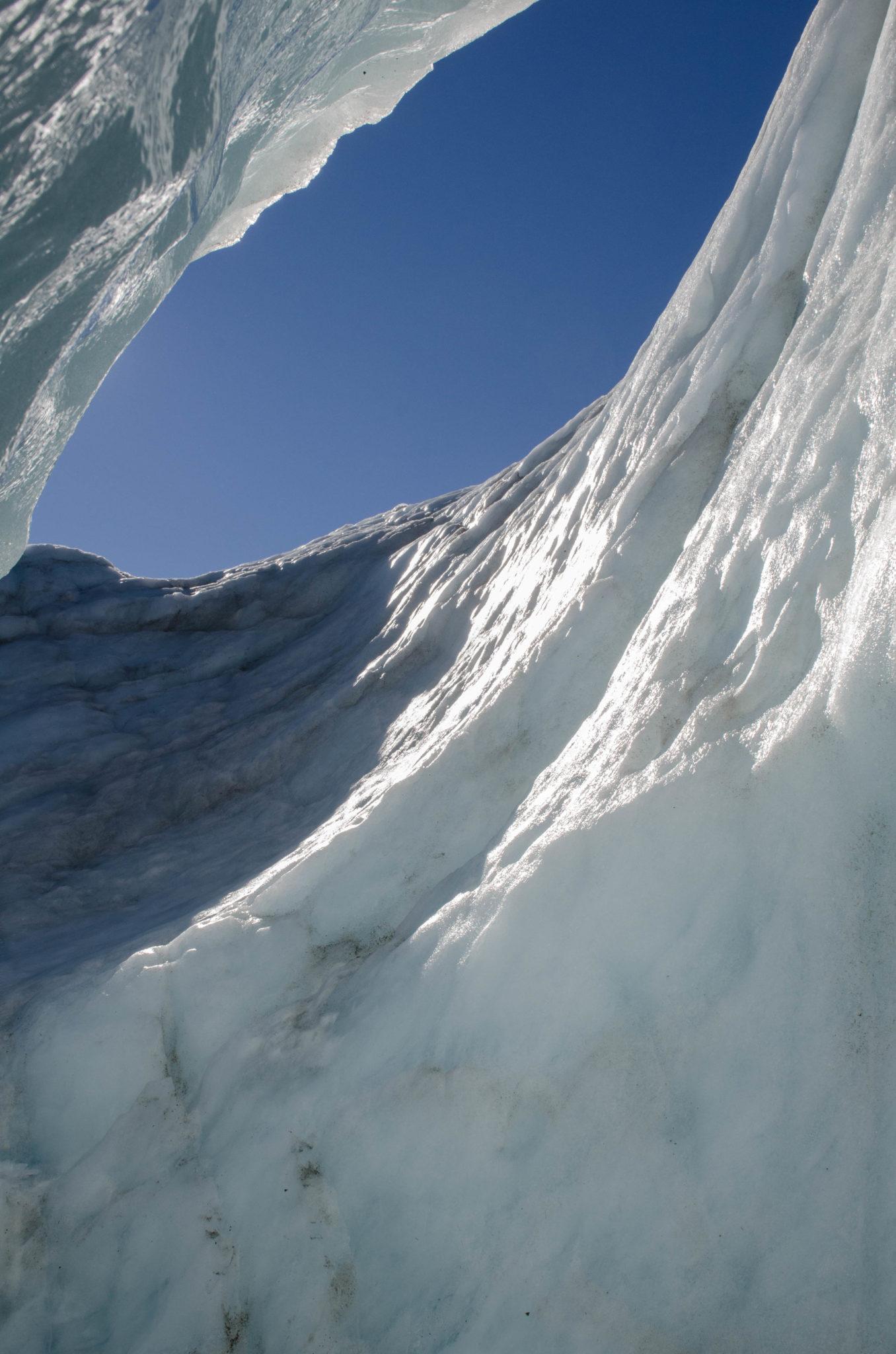 In der Gletscherhöhle am Mount Cook auf der Südinsel von Neuseeland