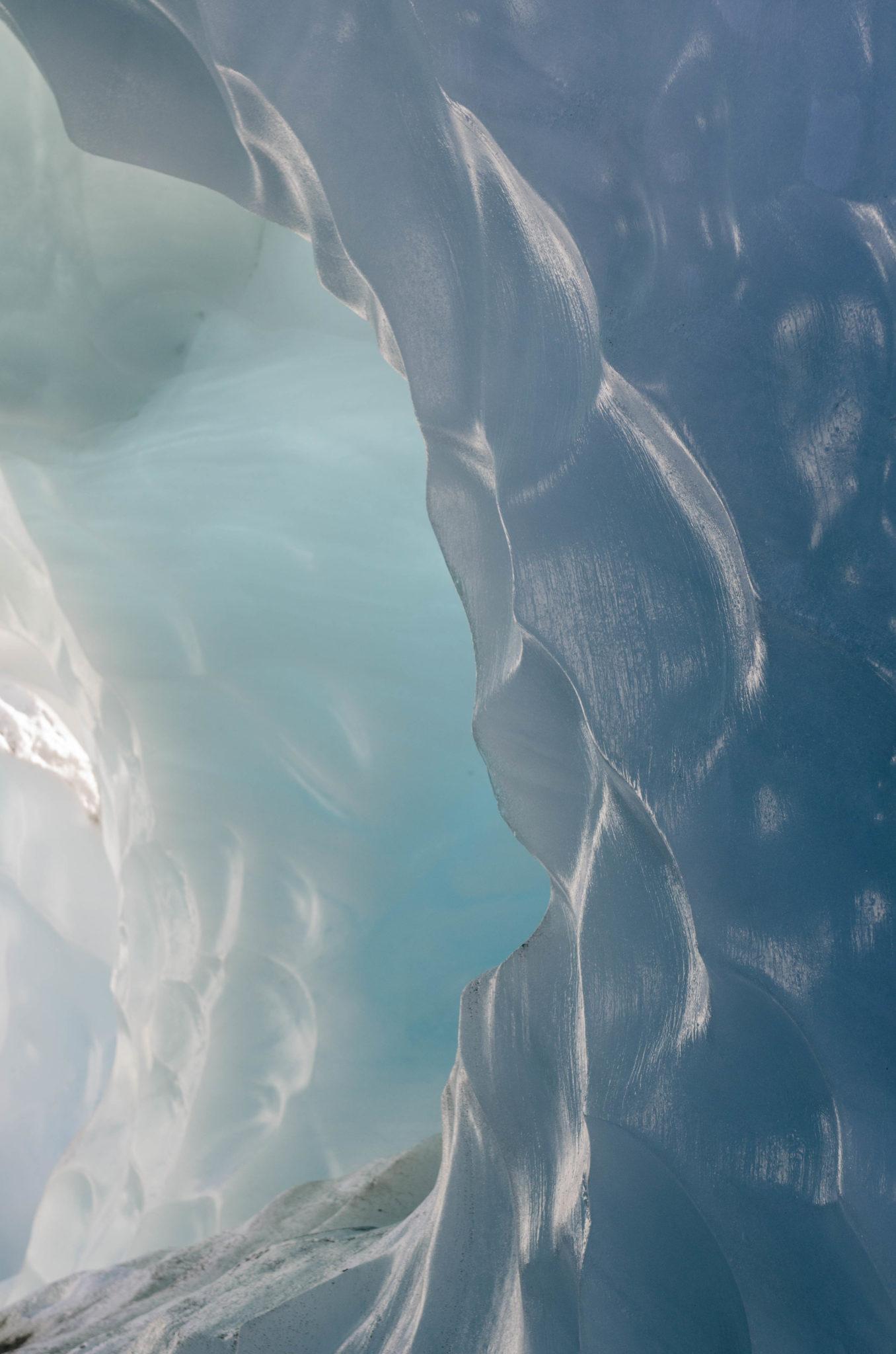 Eisformation am Tasman Gletscher am Mount Cook in Neuseeland
