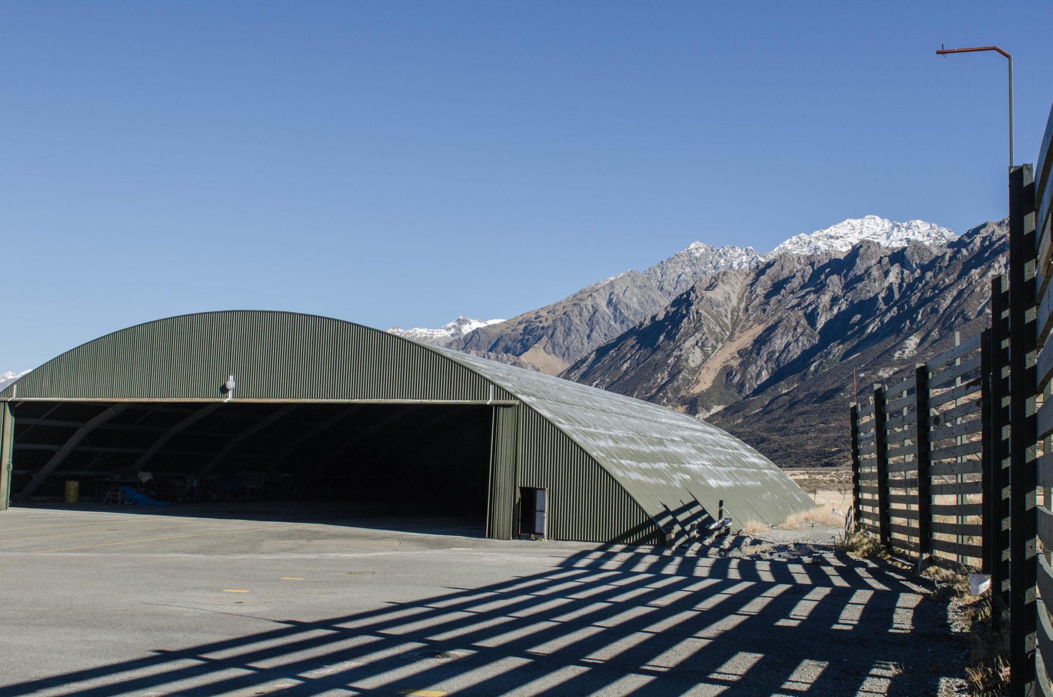 Der Hangar am Mount Cook