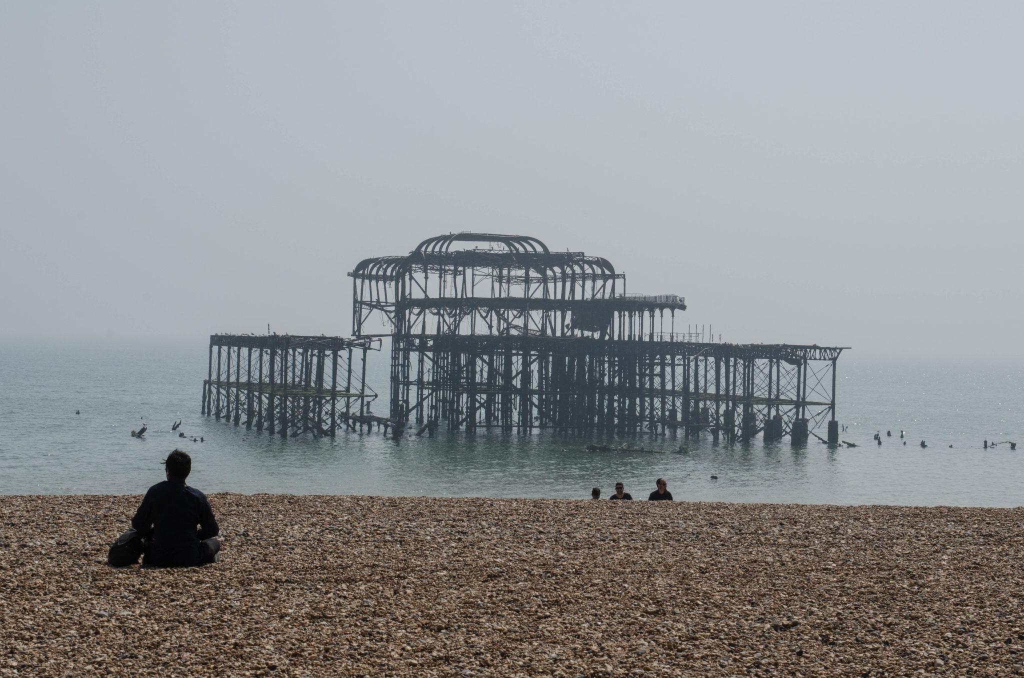 Das war's: Der West Pier in Brighton ist heute nur noch ein Skelett.