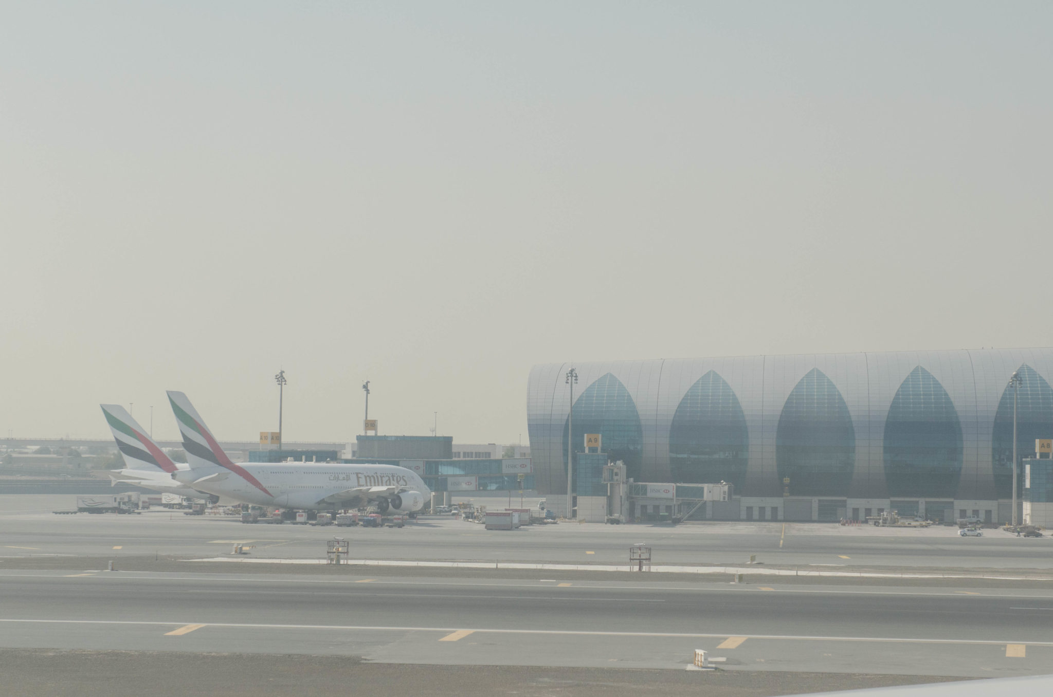 Abflug in der Emirates Business Class vom Dubai International Airport