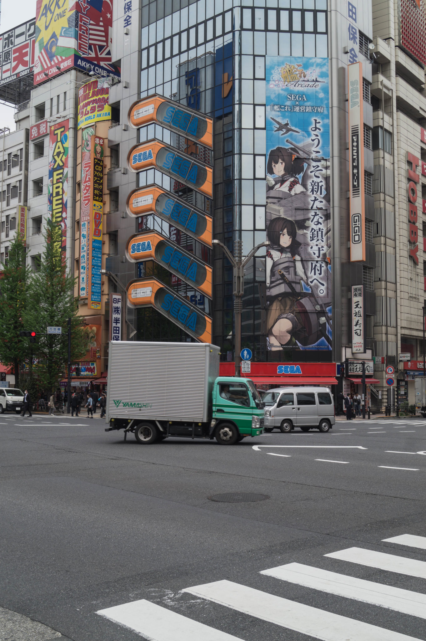 Manchmal sind die Straßen in Tokio verwirrend, wie hier in Akihabara.