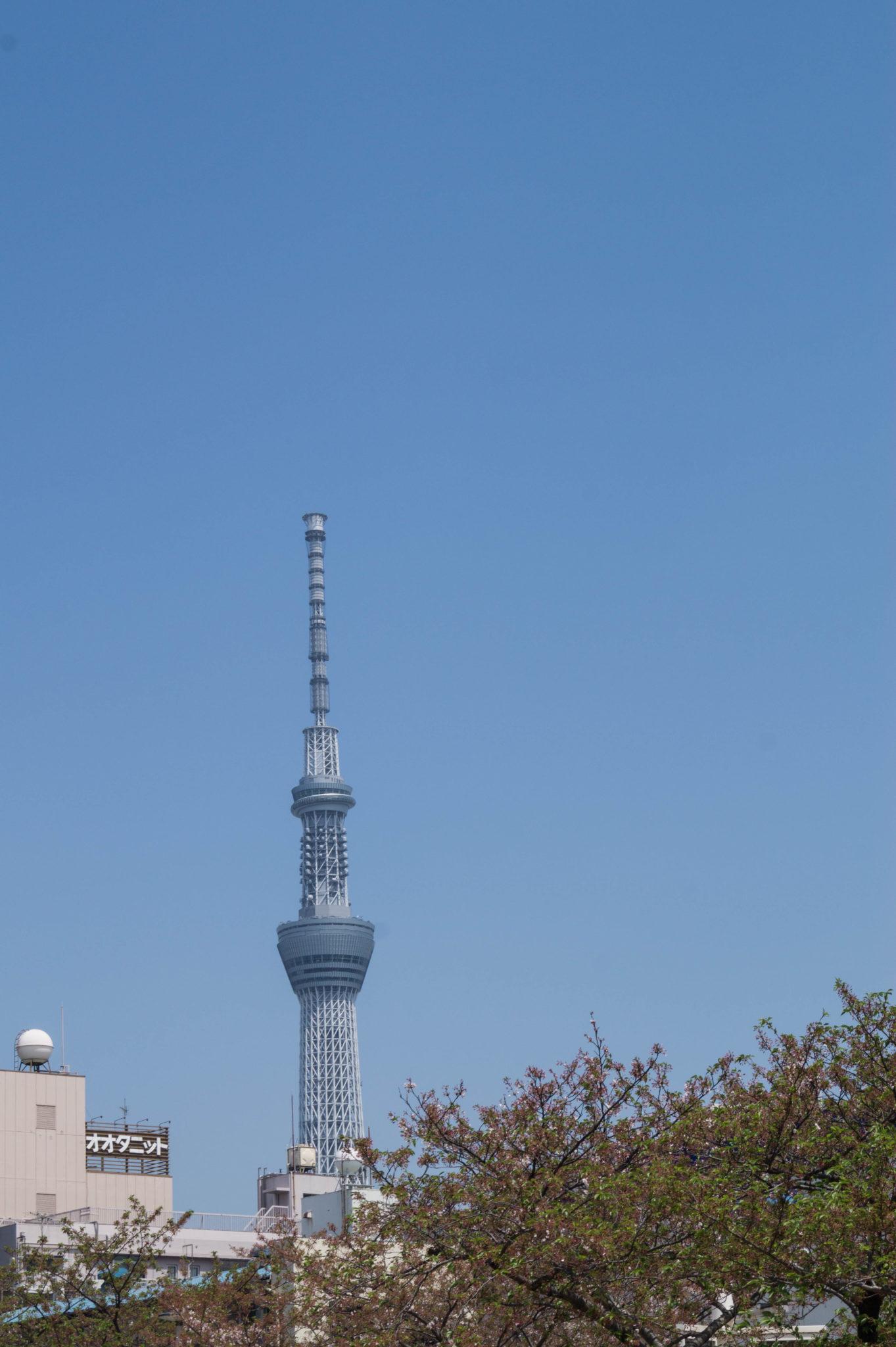 Der Tokyo Skytree Tower gehört zu den besten Aussichtspunkten über Tokyo.