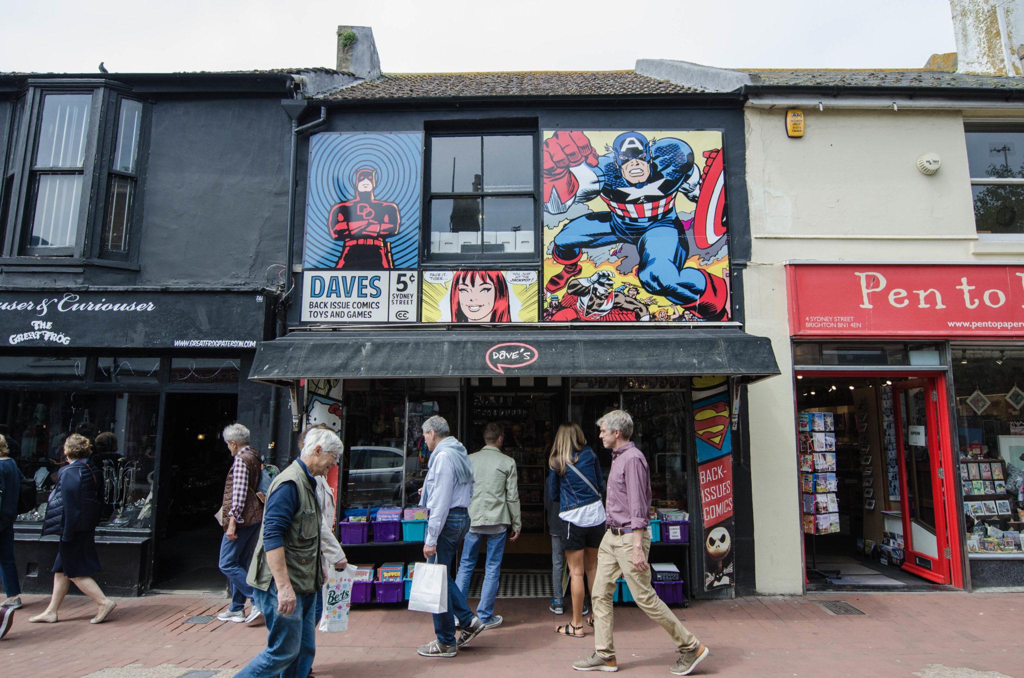 Abseits von Brighton Beach kann man in North Laine einen Einblick in das Brighton von früher bekommen.