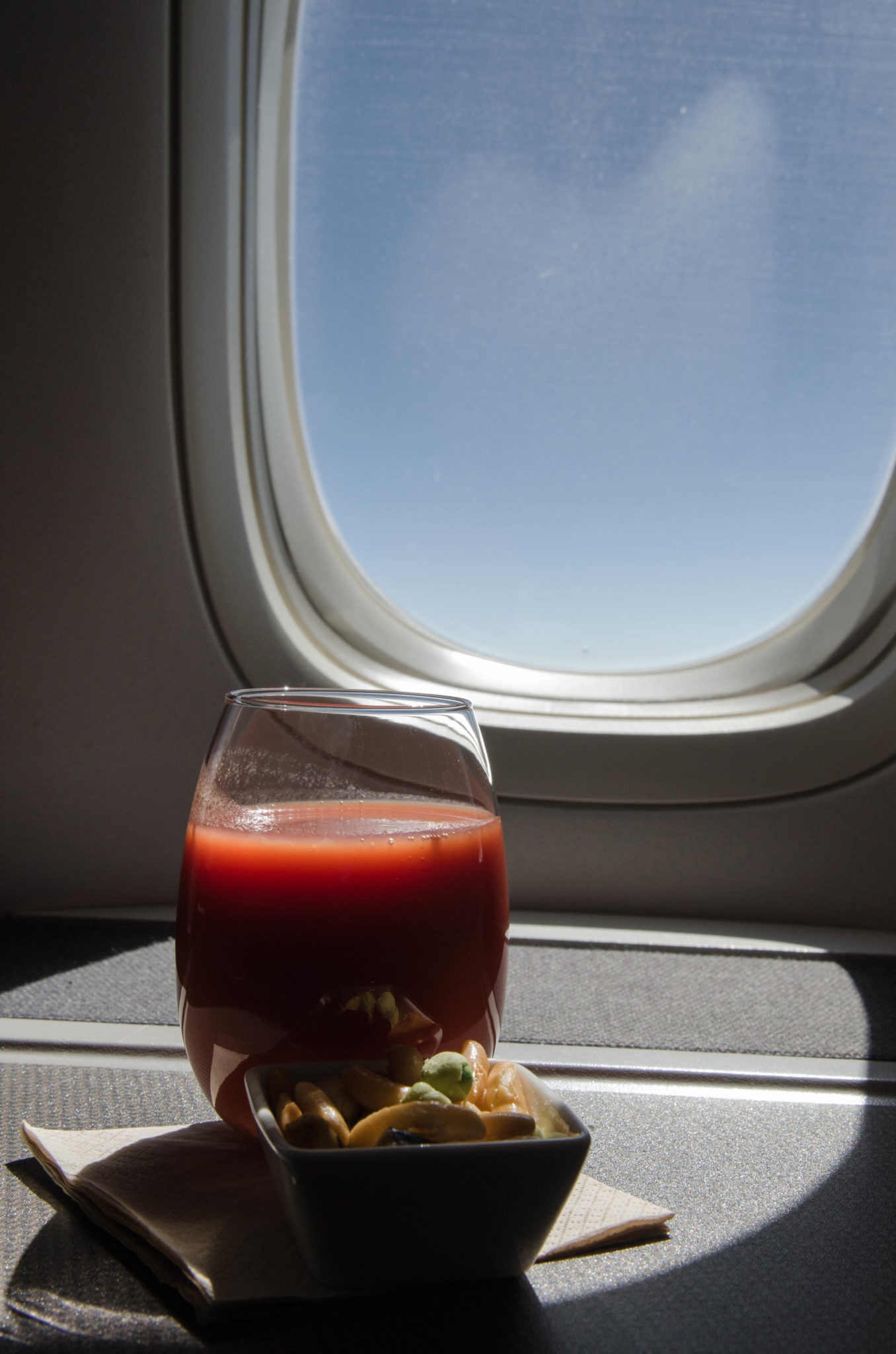 Tomatensaft bei Cathay Pacific