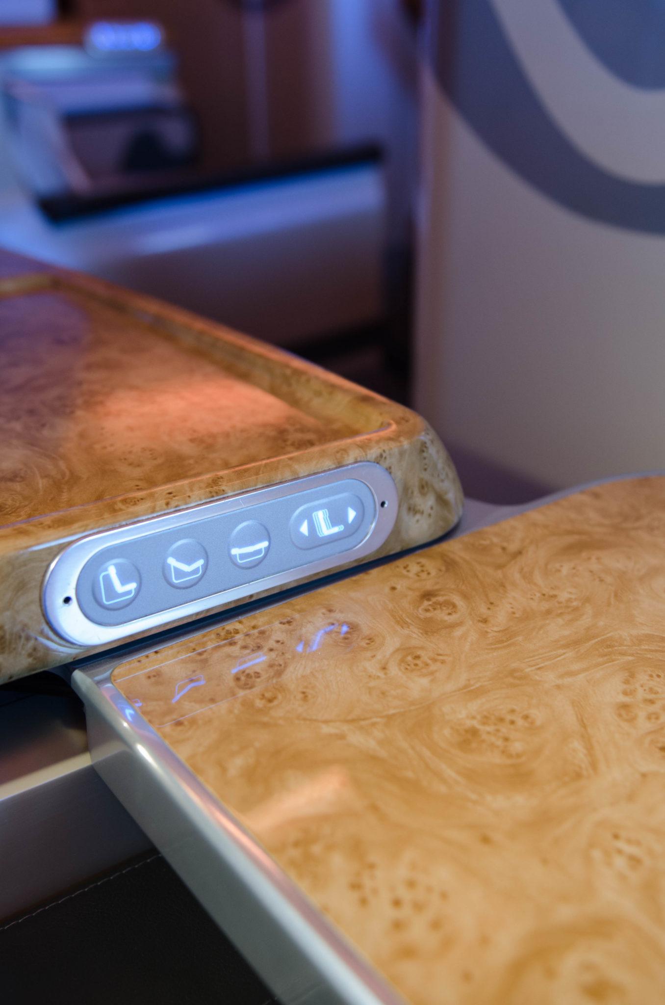 Die Technik an Bord der Emirates Business Class im A380 ist auf dem neuesten Stand.