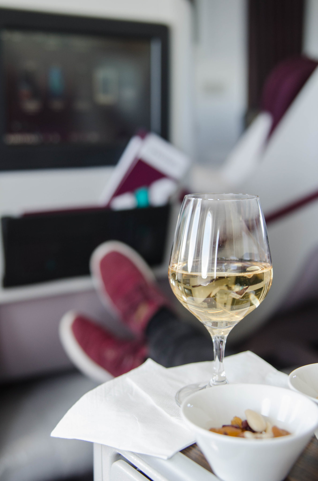 Air Italy Business Class auf dem Flug von Mailand nach New York