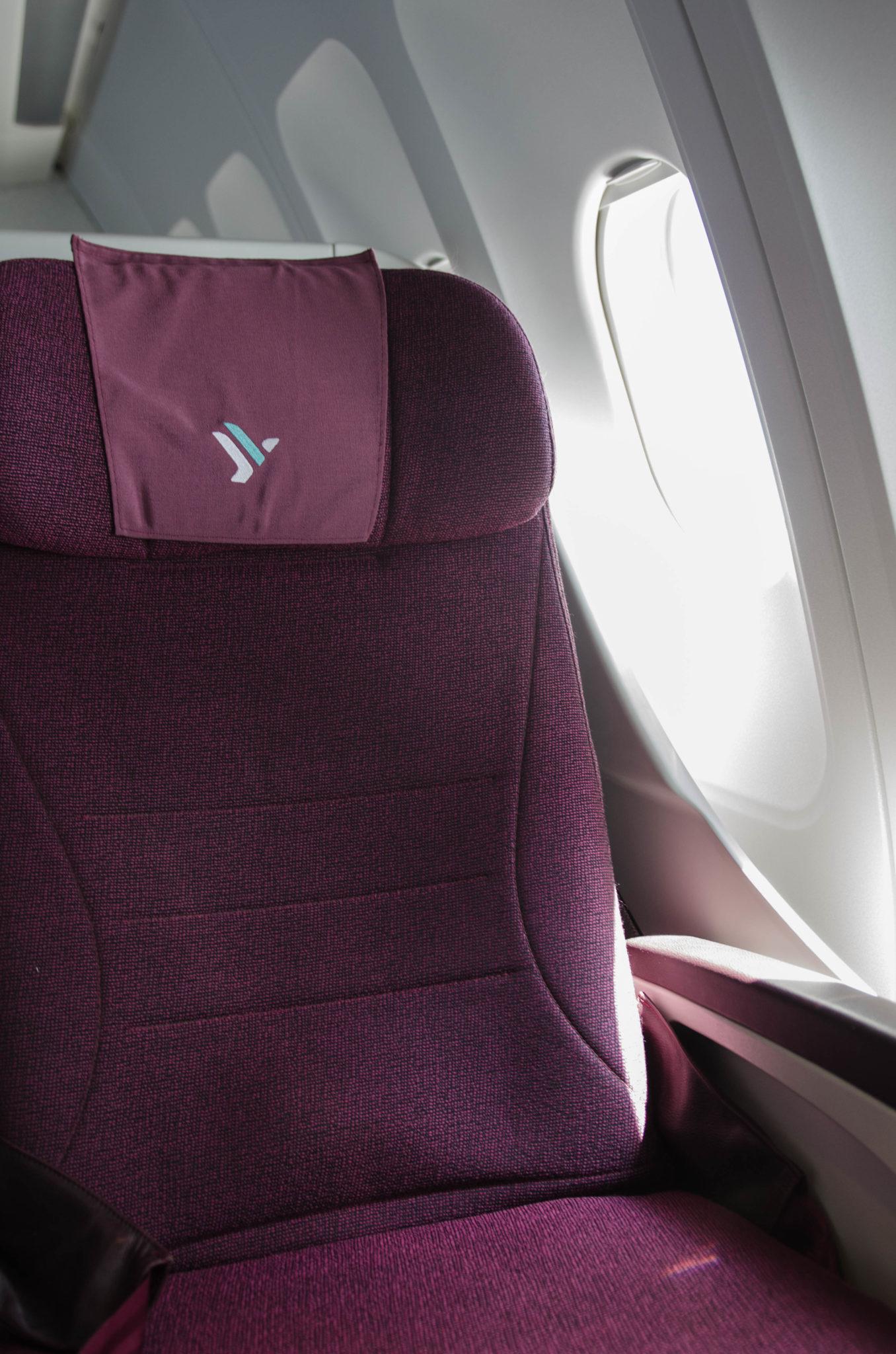 Die Ausstattung in der Air Italy Business Class auf dem Flug von Mailand nach New York