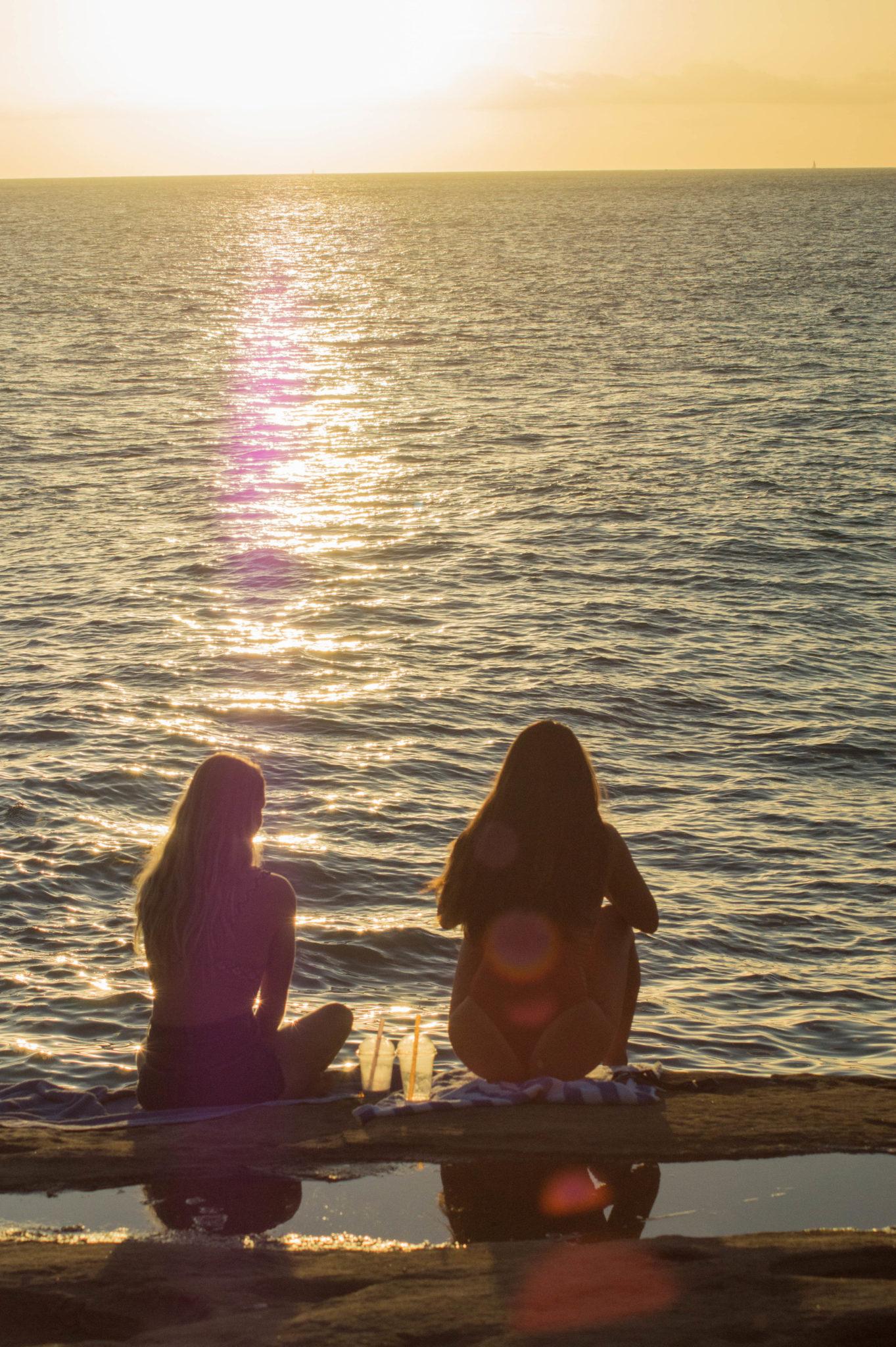 Sonnenuntergang auf Oahu