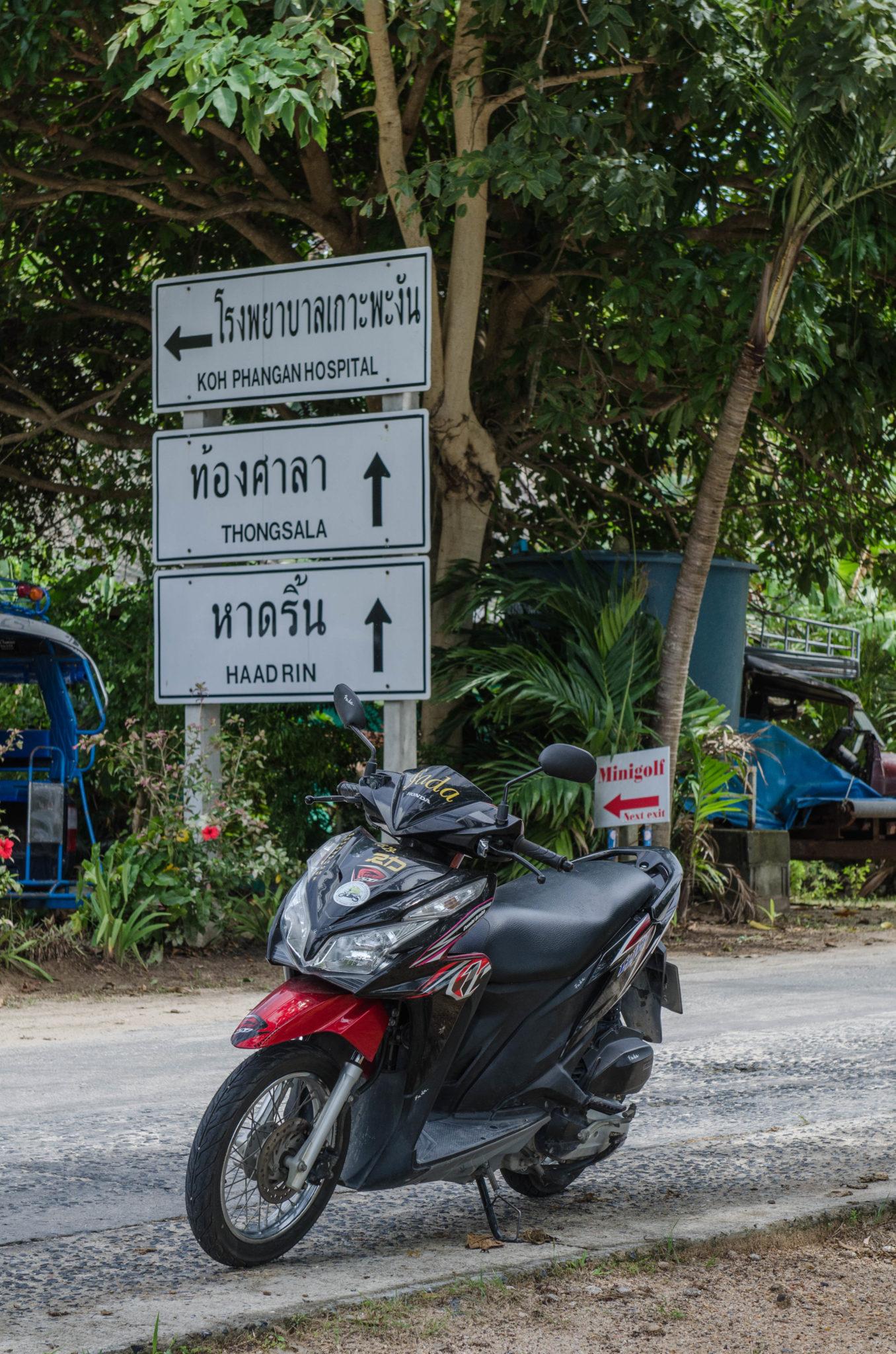 Mit dem Roller durch die Landschaft von Koh Phangan