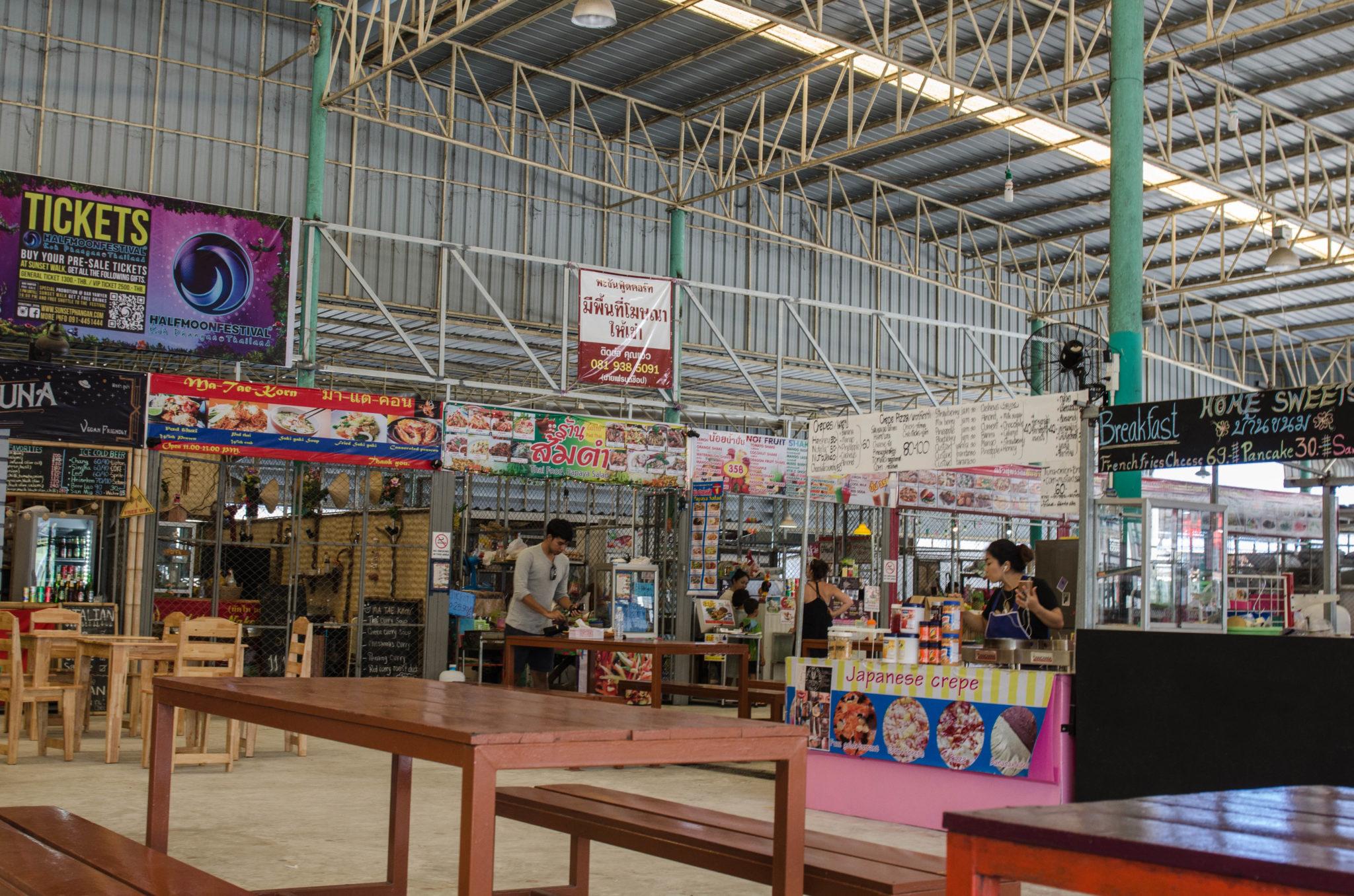Typischer Markt in Thailand