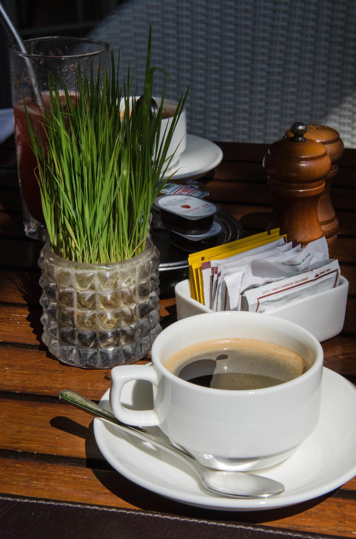 Der Kaffee beim Frühstück