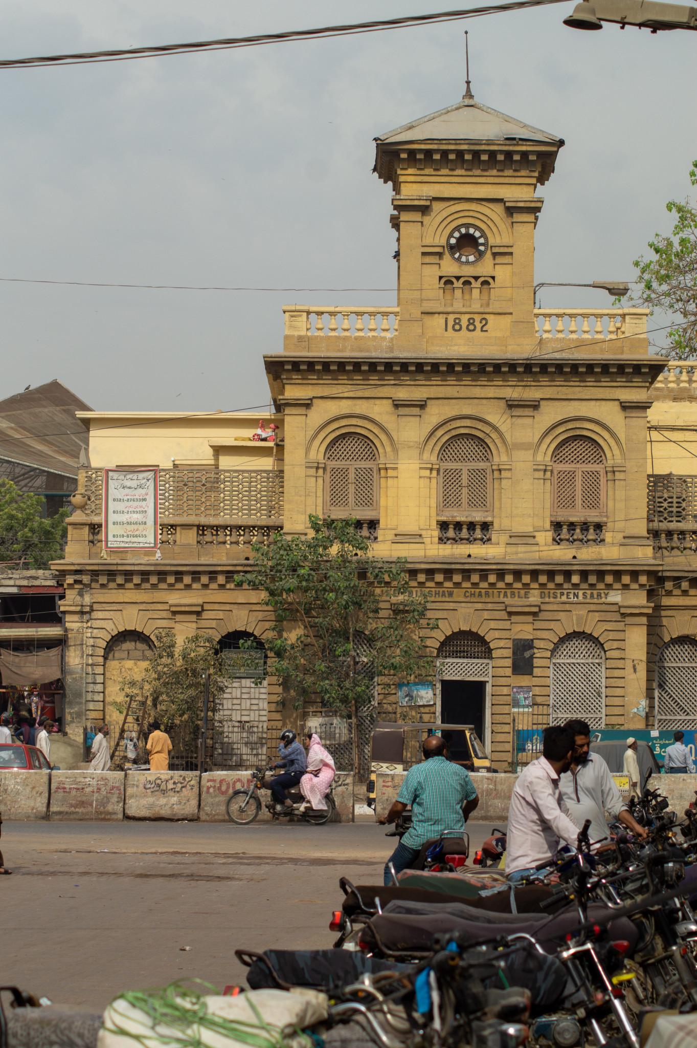 Alte Marktgebäude in Karatschi