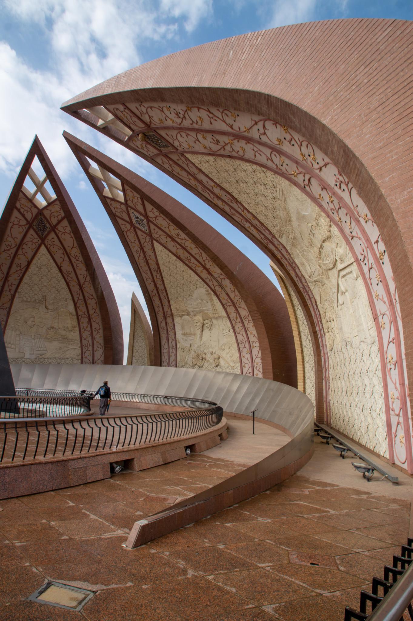 Zu den Pakistan Sehenswürdigkeiten gehört auch das Pakistan Monument in Islamabad